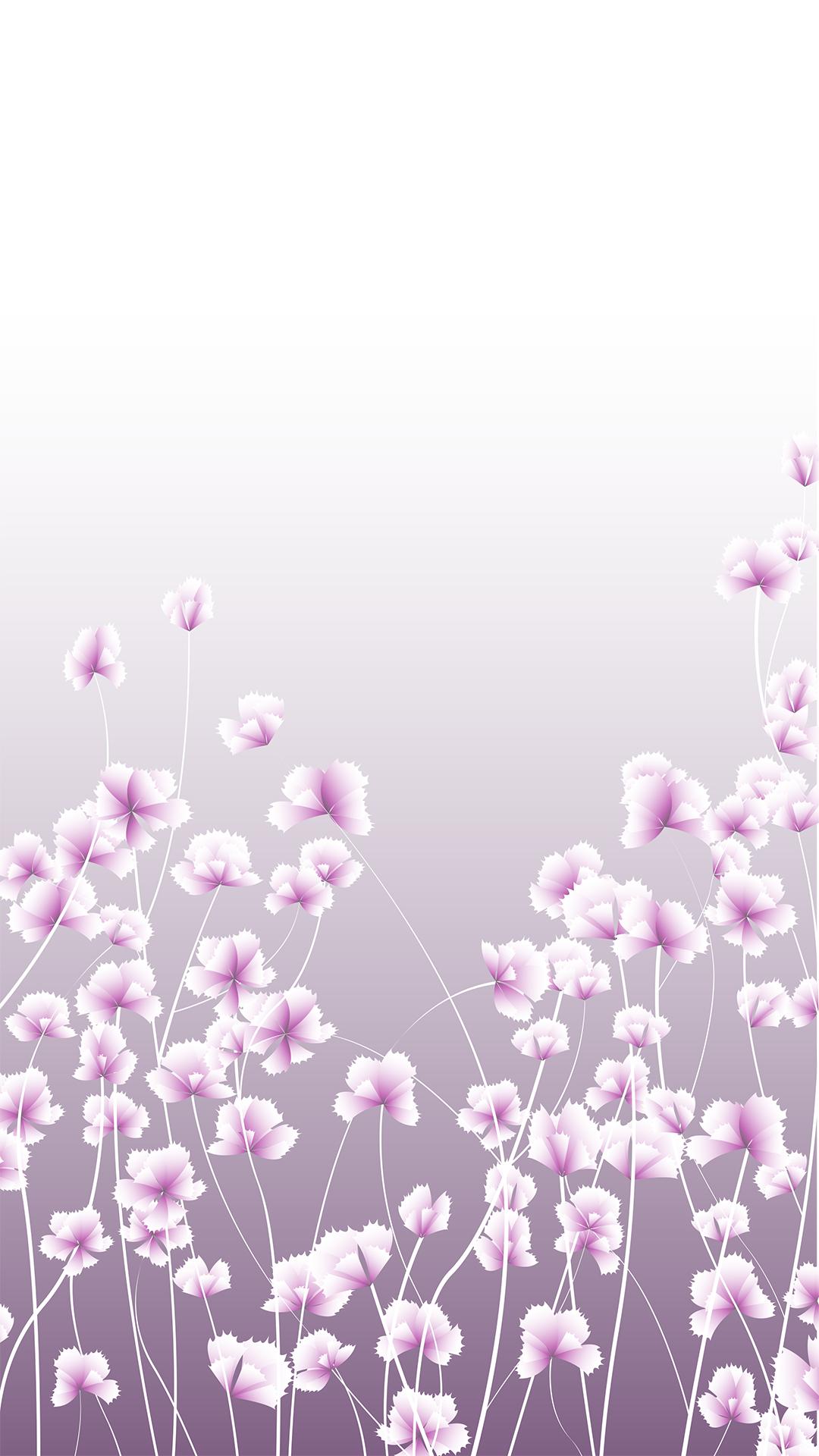 white flowers border h5 purple gradient background