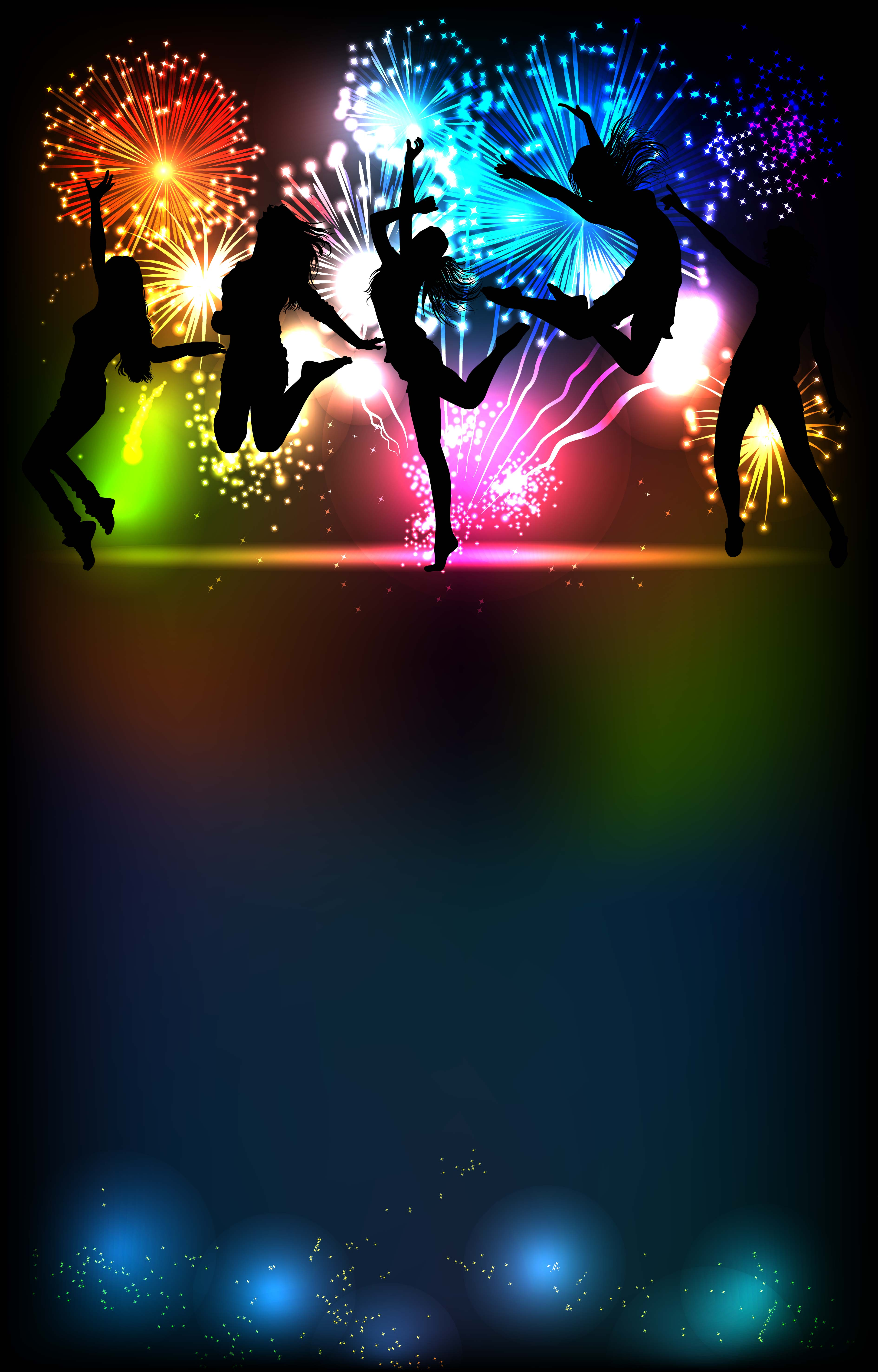 Disco Dance Night Party Background, Laser, Silhouette ...