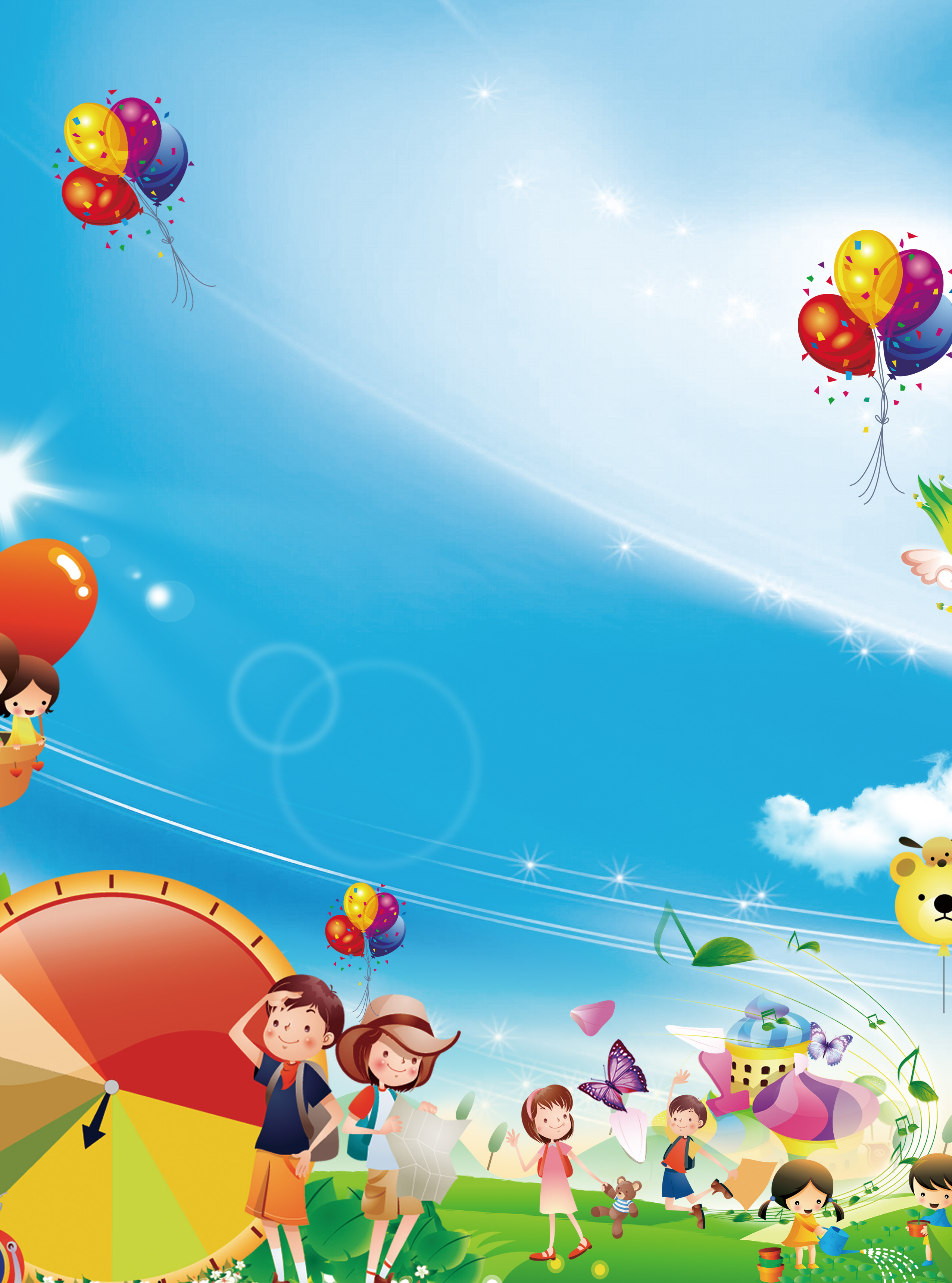 Childrens painting competition poster background material sixtyone childrens single - Children s day images download ...