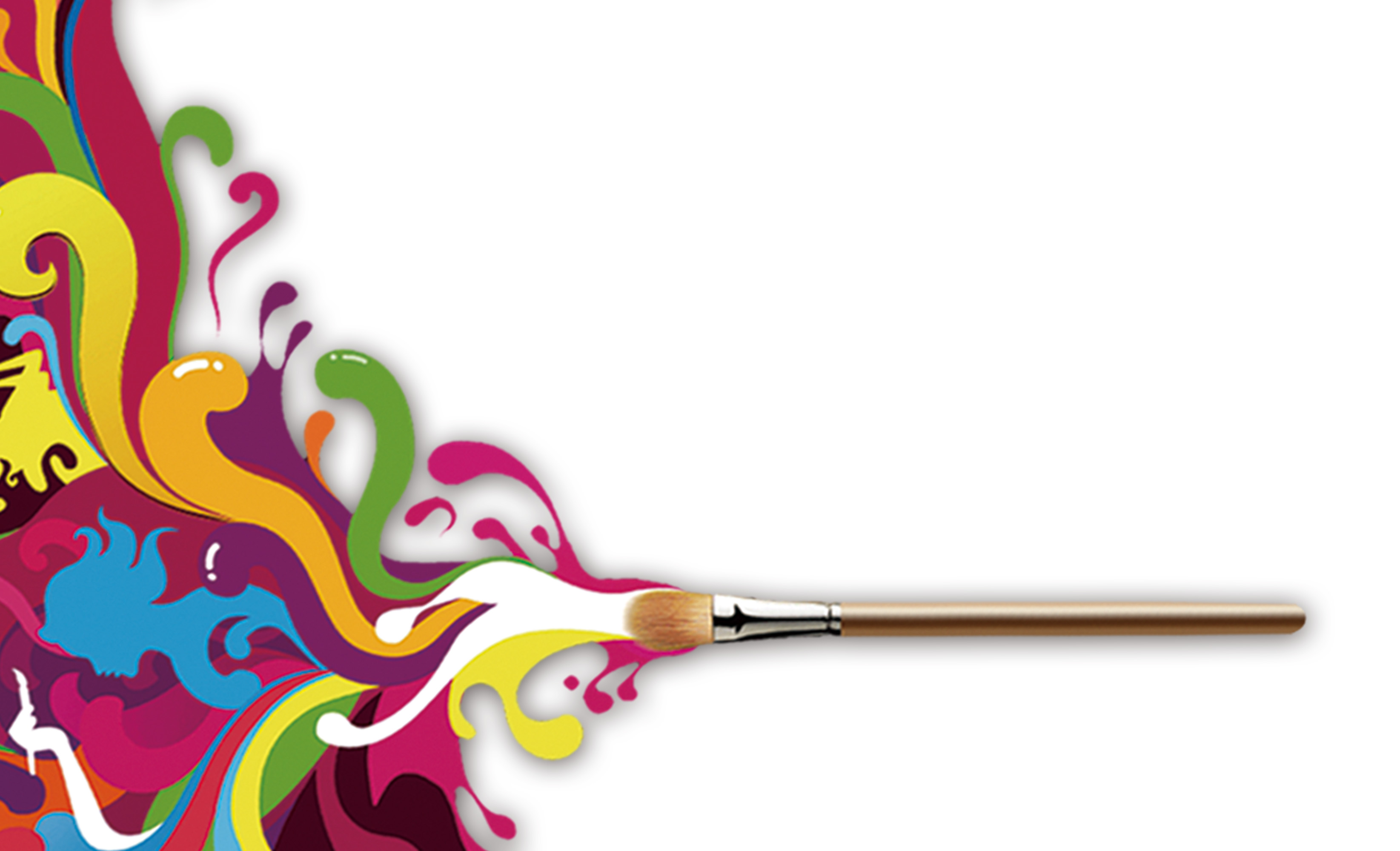 painting school business card background material
