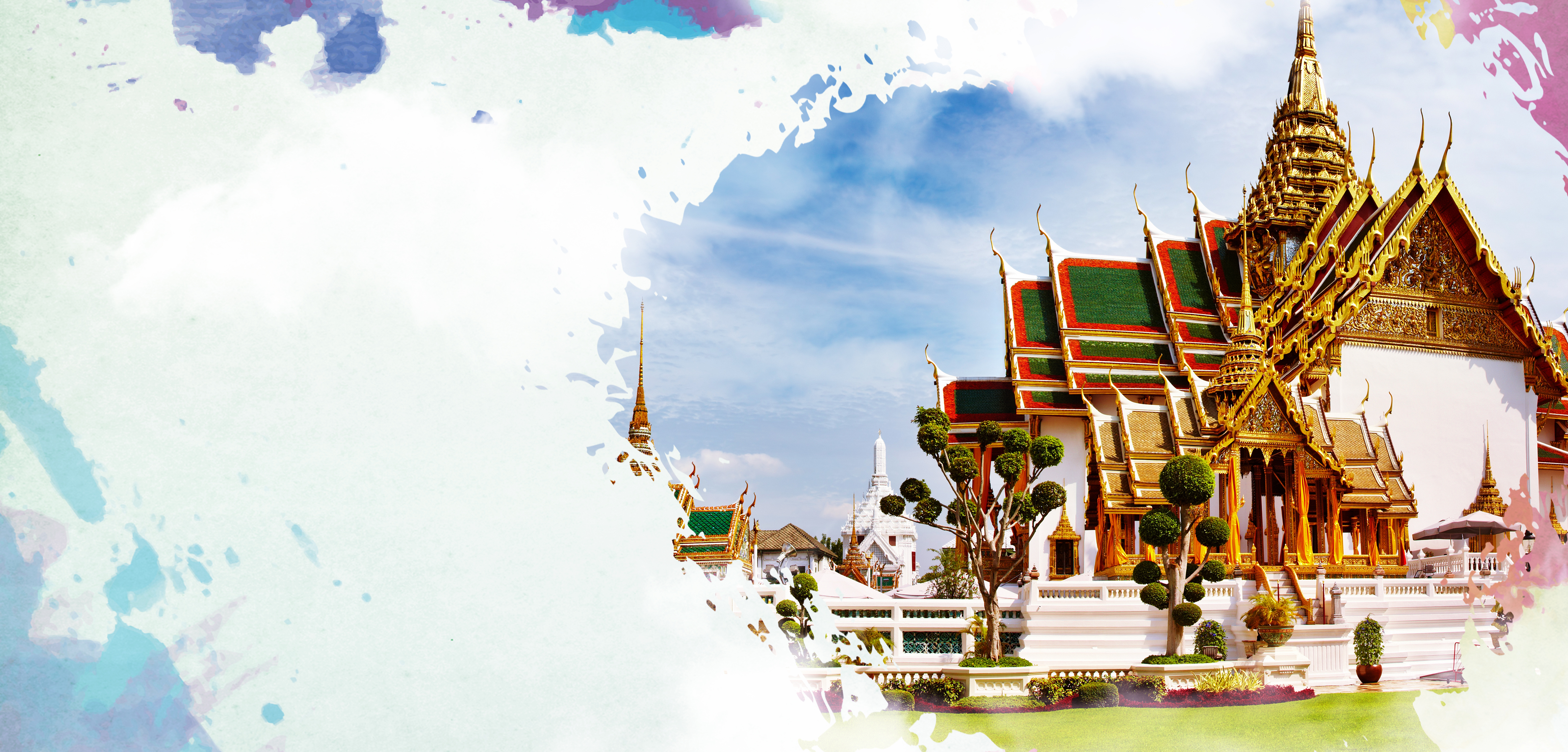 thai travel poster background material  thailand  krabi  bangkok background image for free download