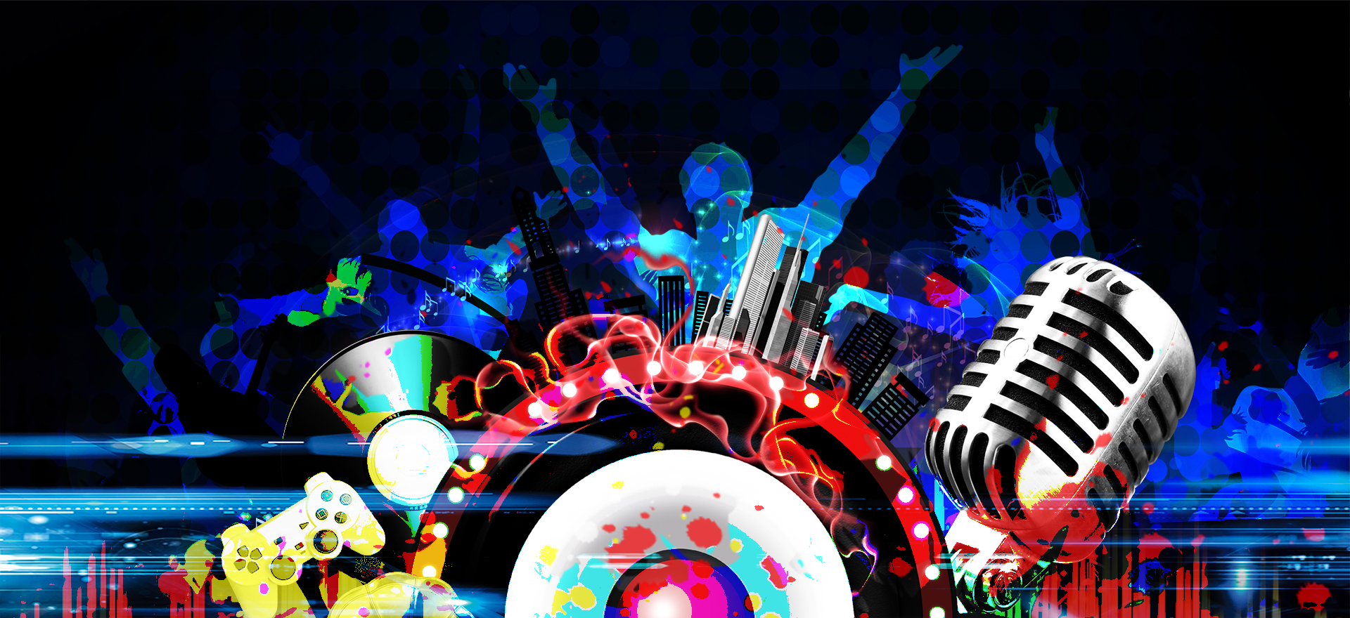 cool music carnival music festival poster background  cool