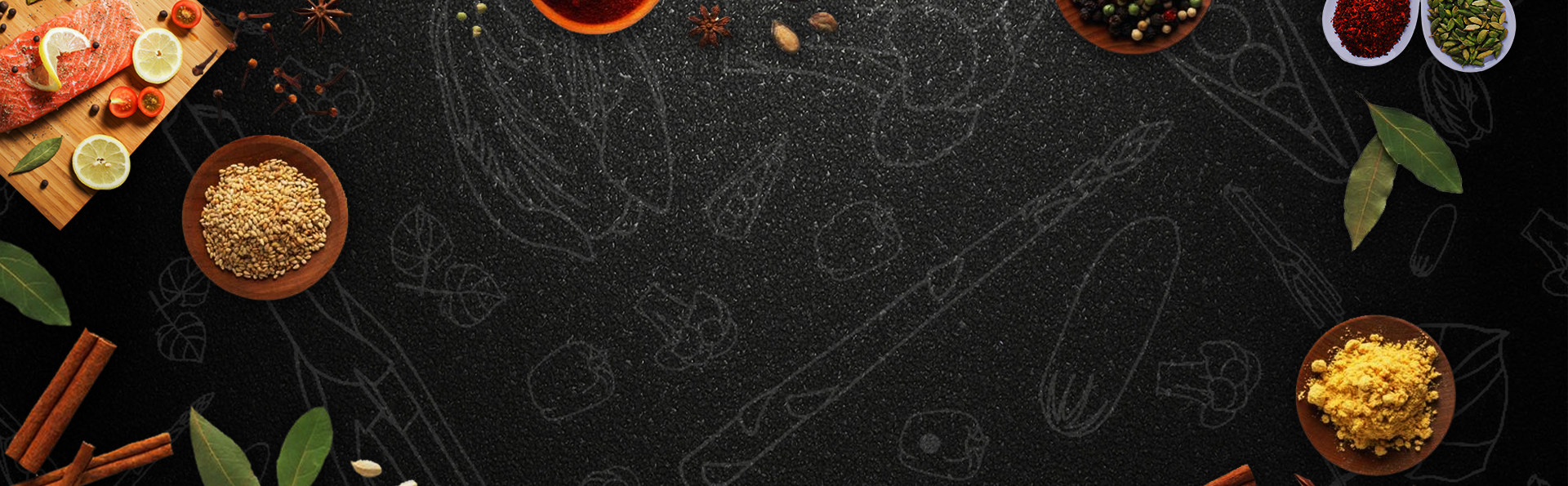 simple food black background psd layered banner  simple