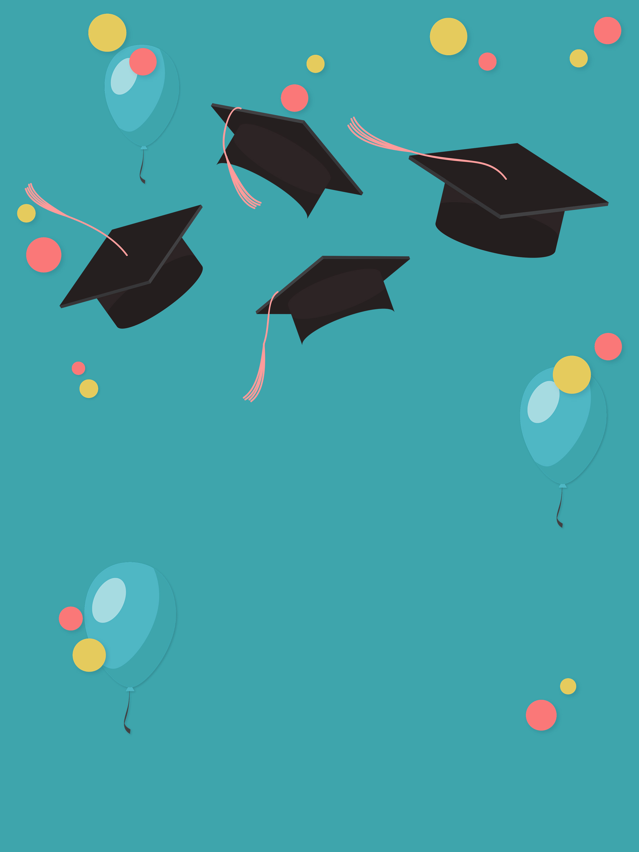 graduation season simple blue background material map