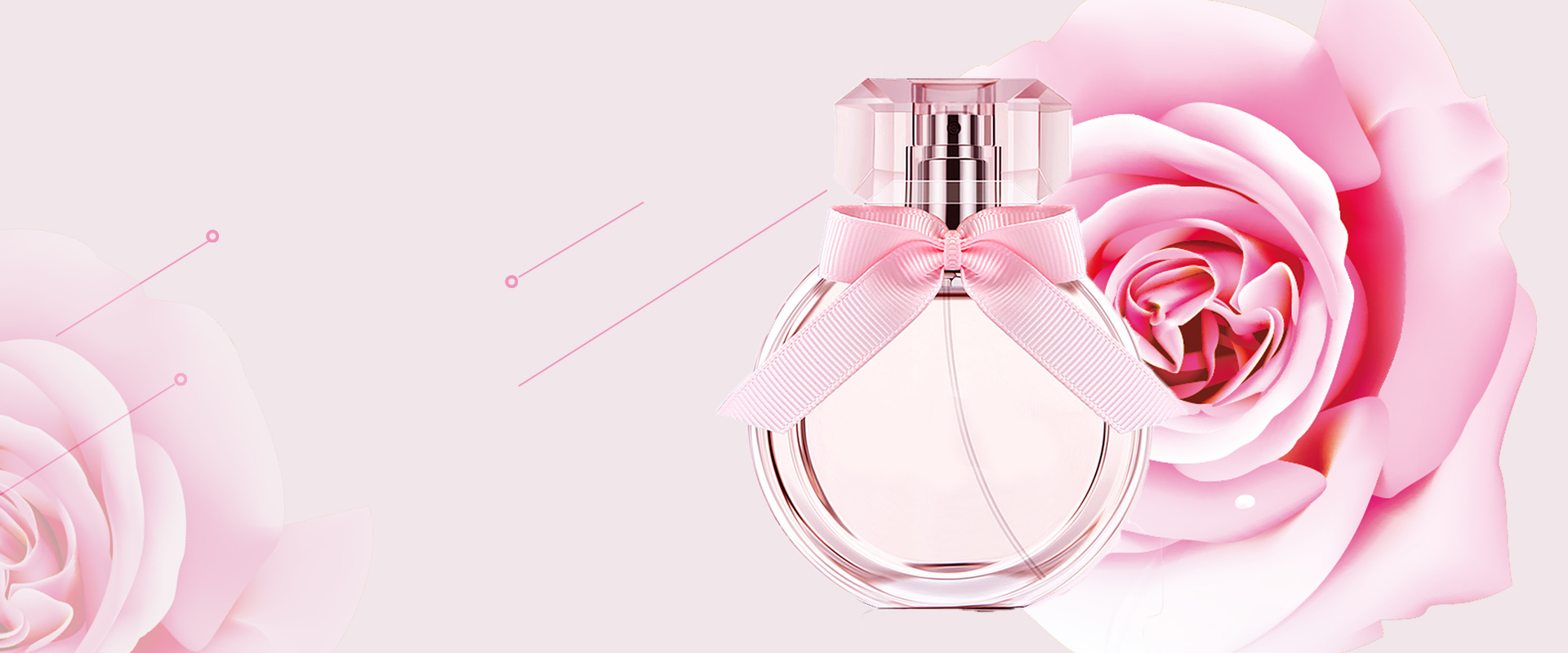 perfume simple pink poster background banner  perfume