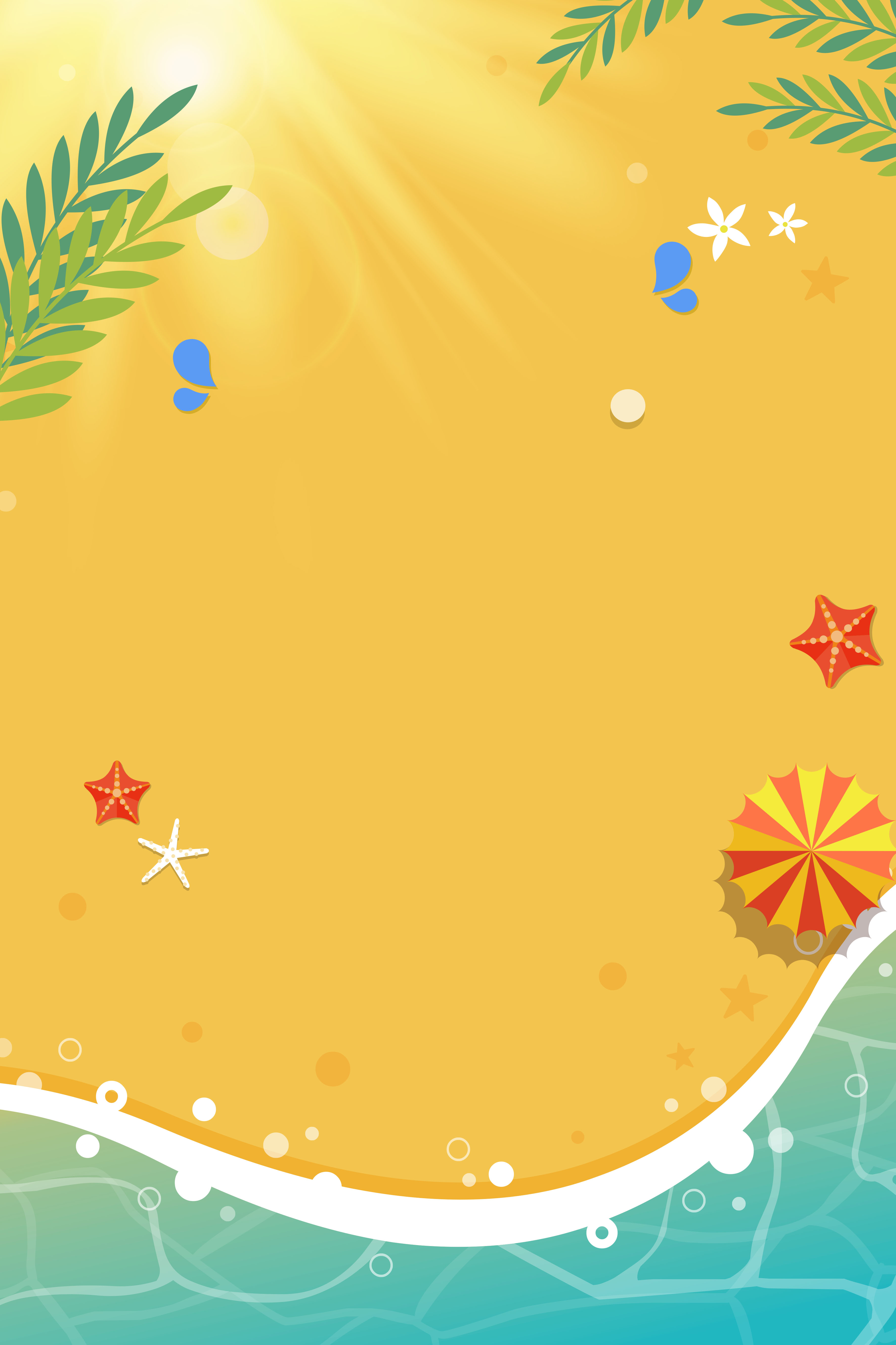 Summer Promotional Cool Summer Poster Background Material