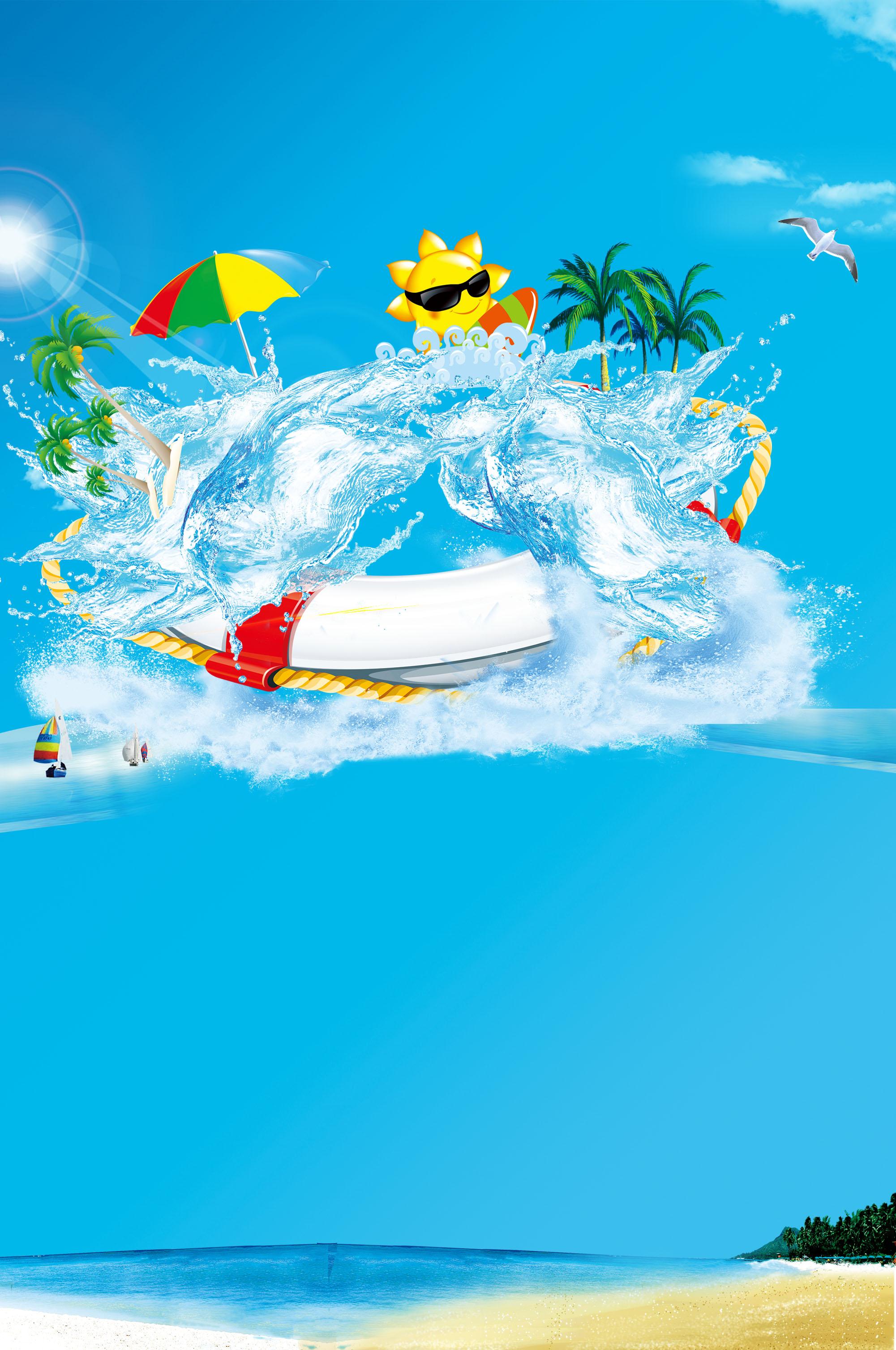 surfeur nageur vague splash contexte conception art la