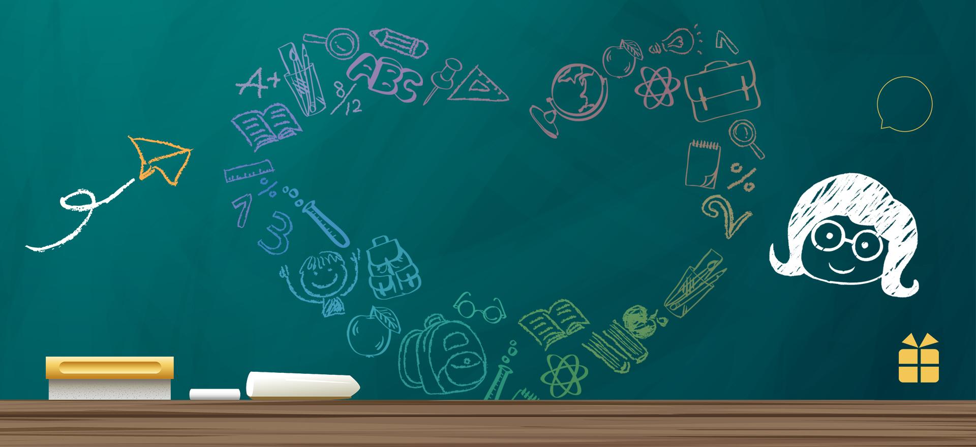 Thanksgiving Teacher Day Blackboard Background
