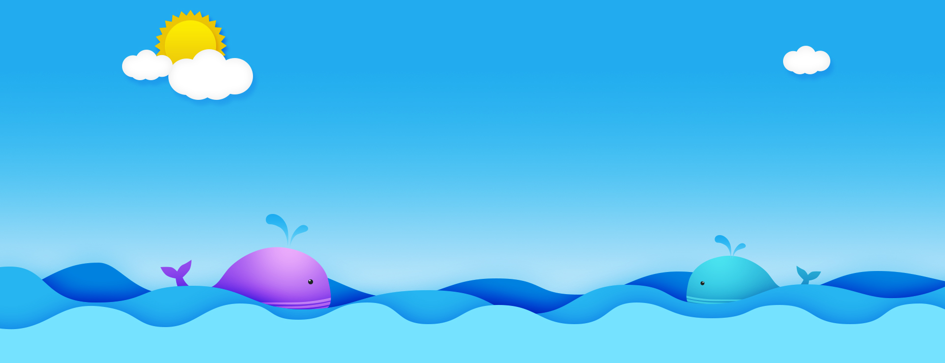 cartoon ocean blue background psd layered banner  cartoon