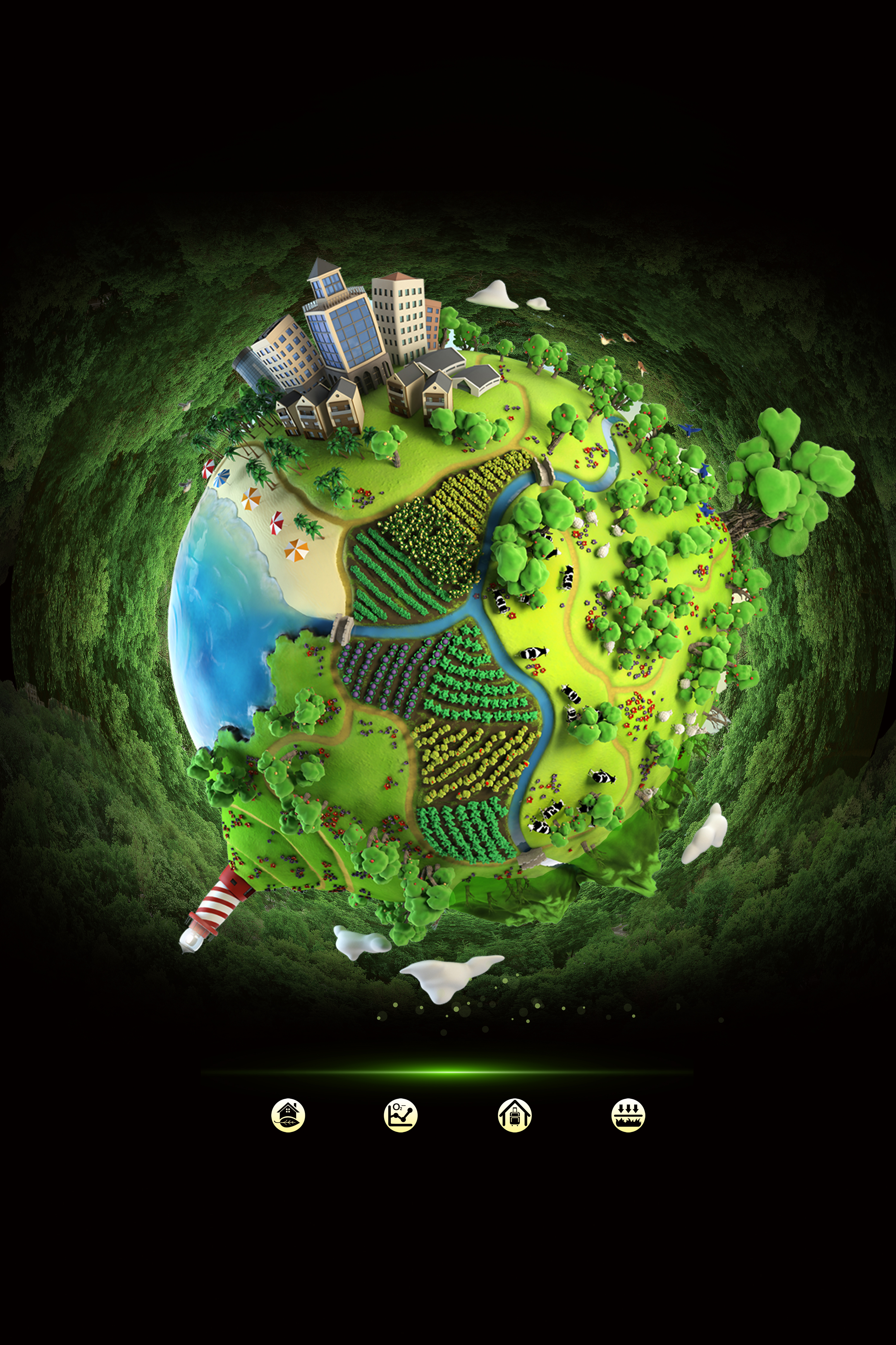 creative innovation earth decoration promotional