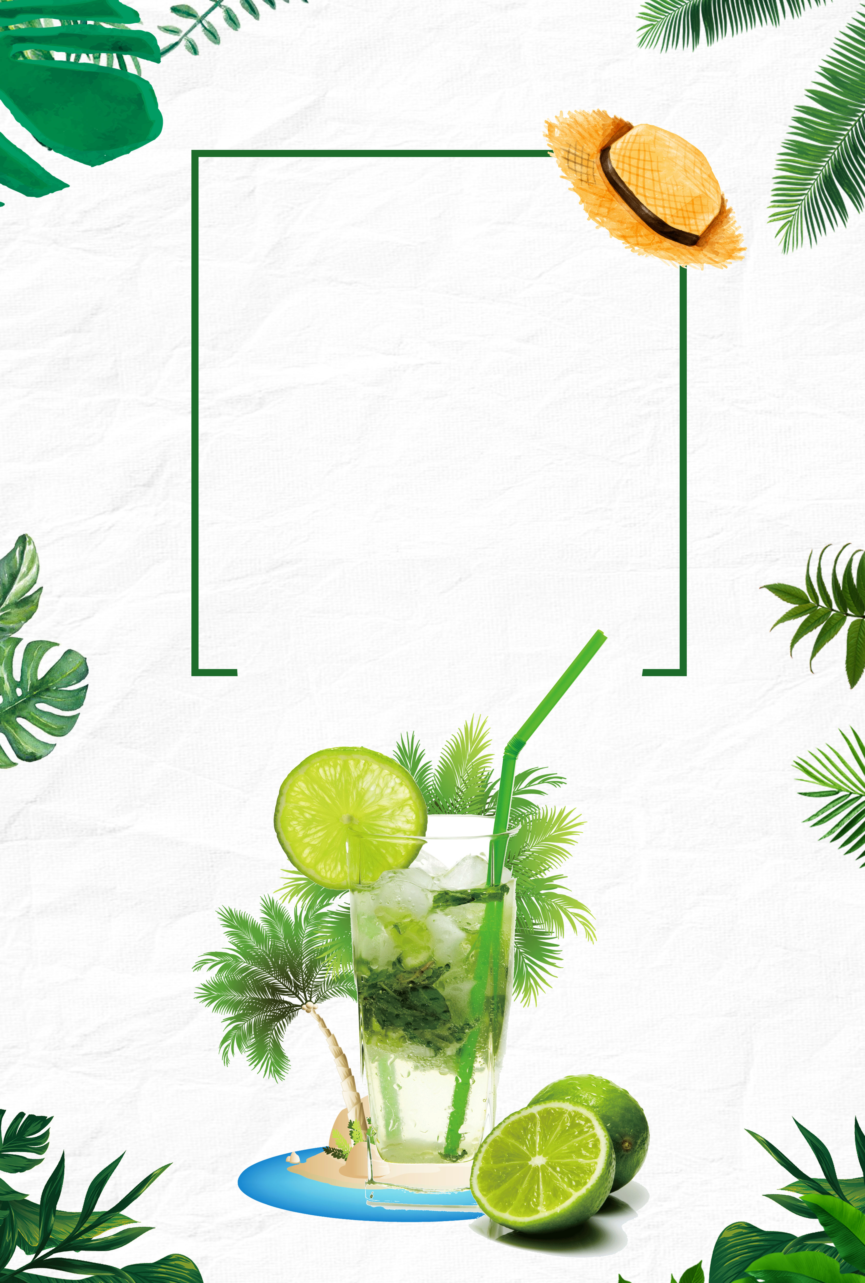 Summer Cold Drink Fruit Juice Frost Summer Poster