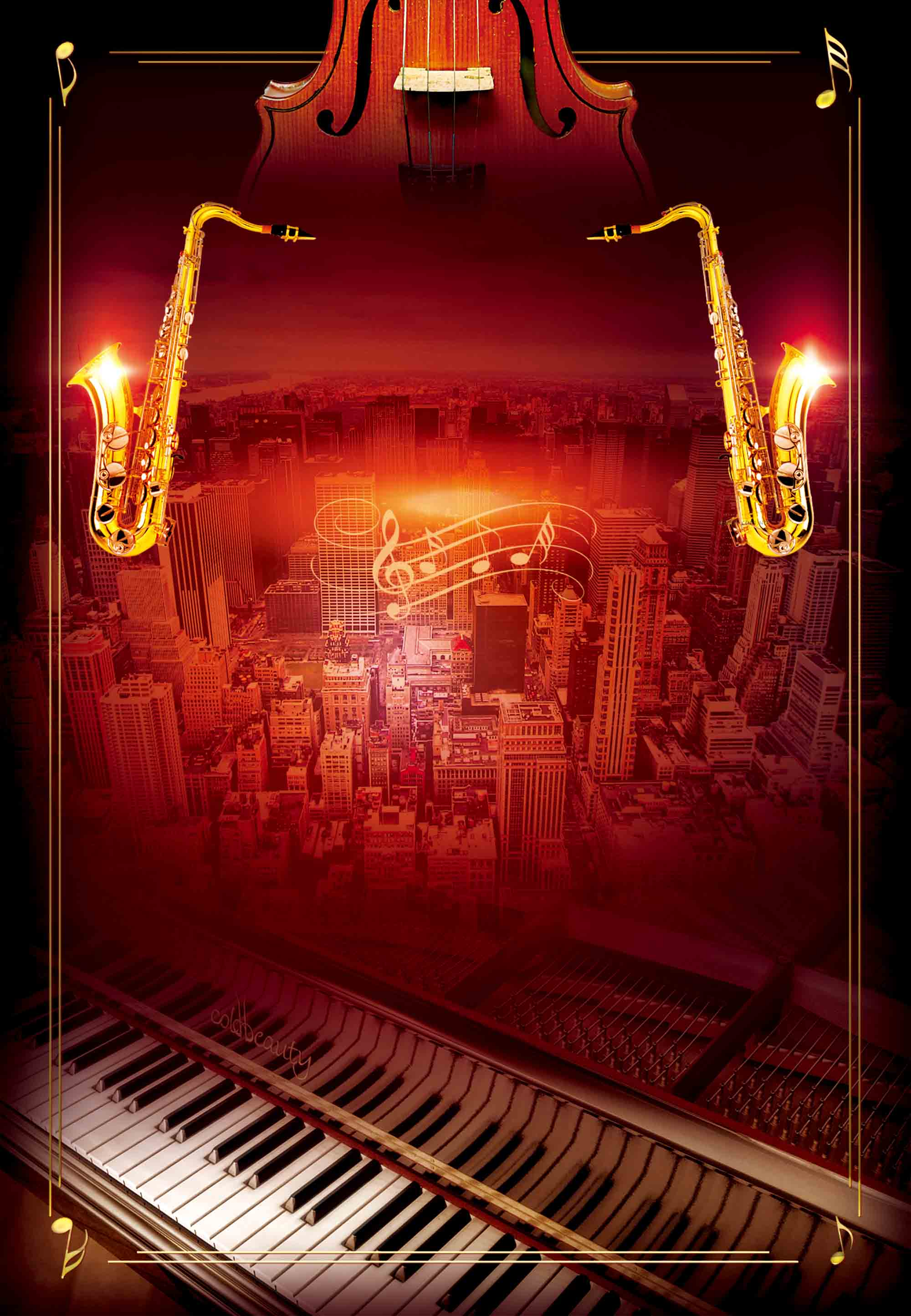 red atmosphere jazz concert background  piano  saxophone