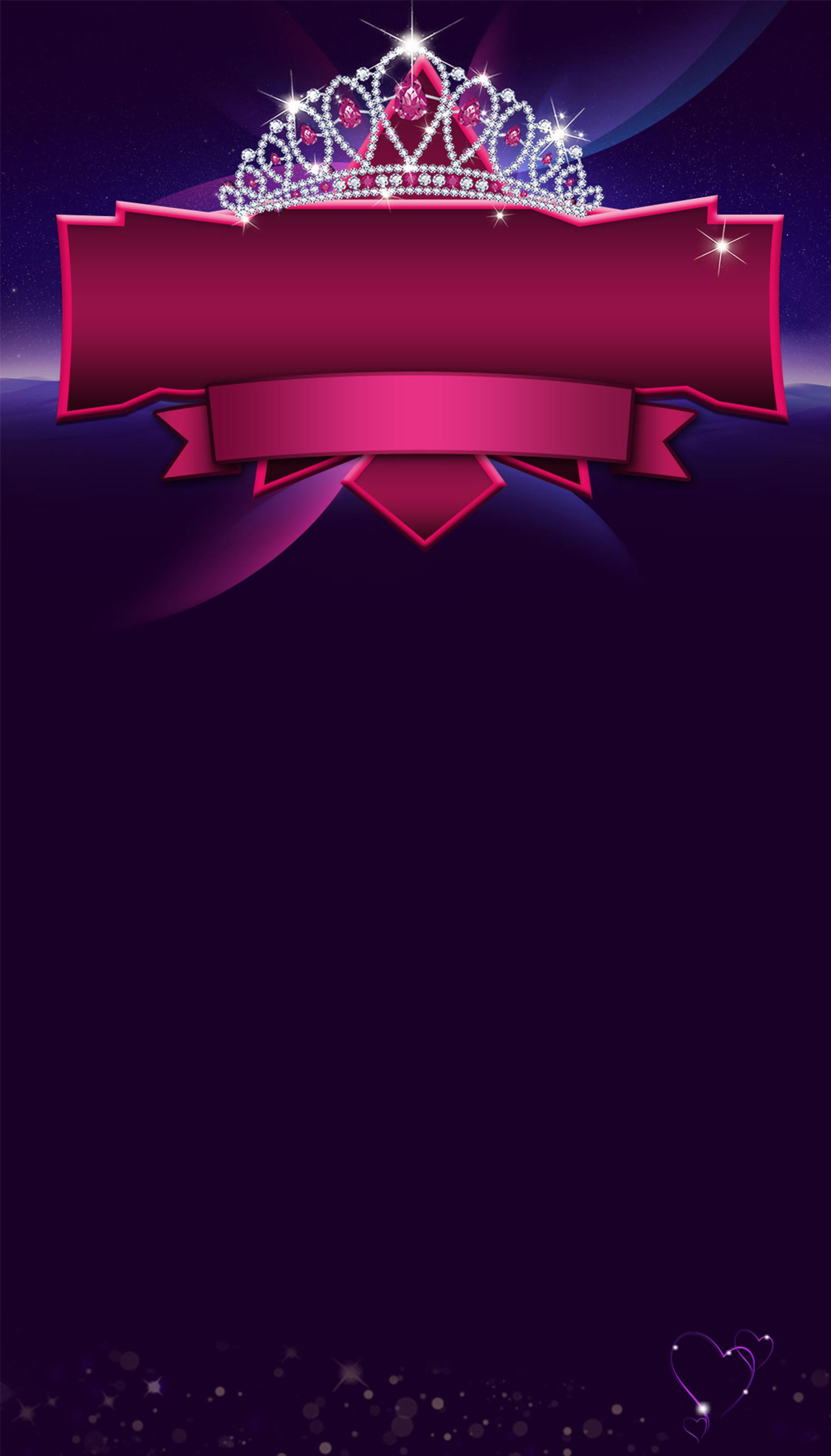Purple Grades Crown Poster Background Purple Gradient