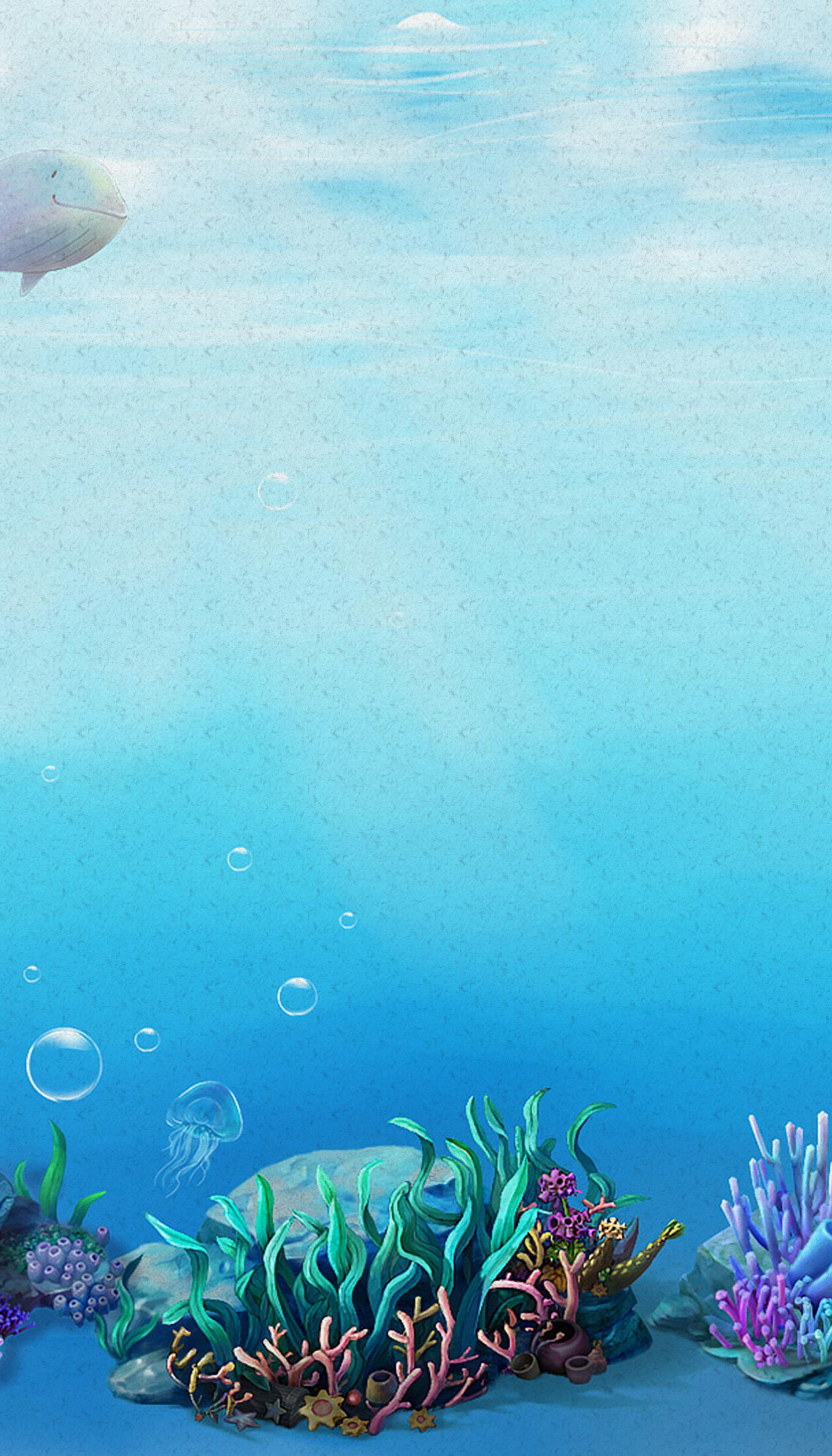 underwater world poster background  ocean  biological