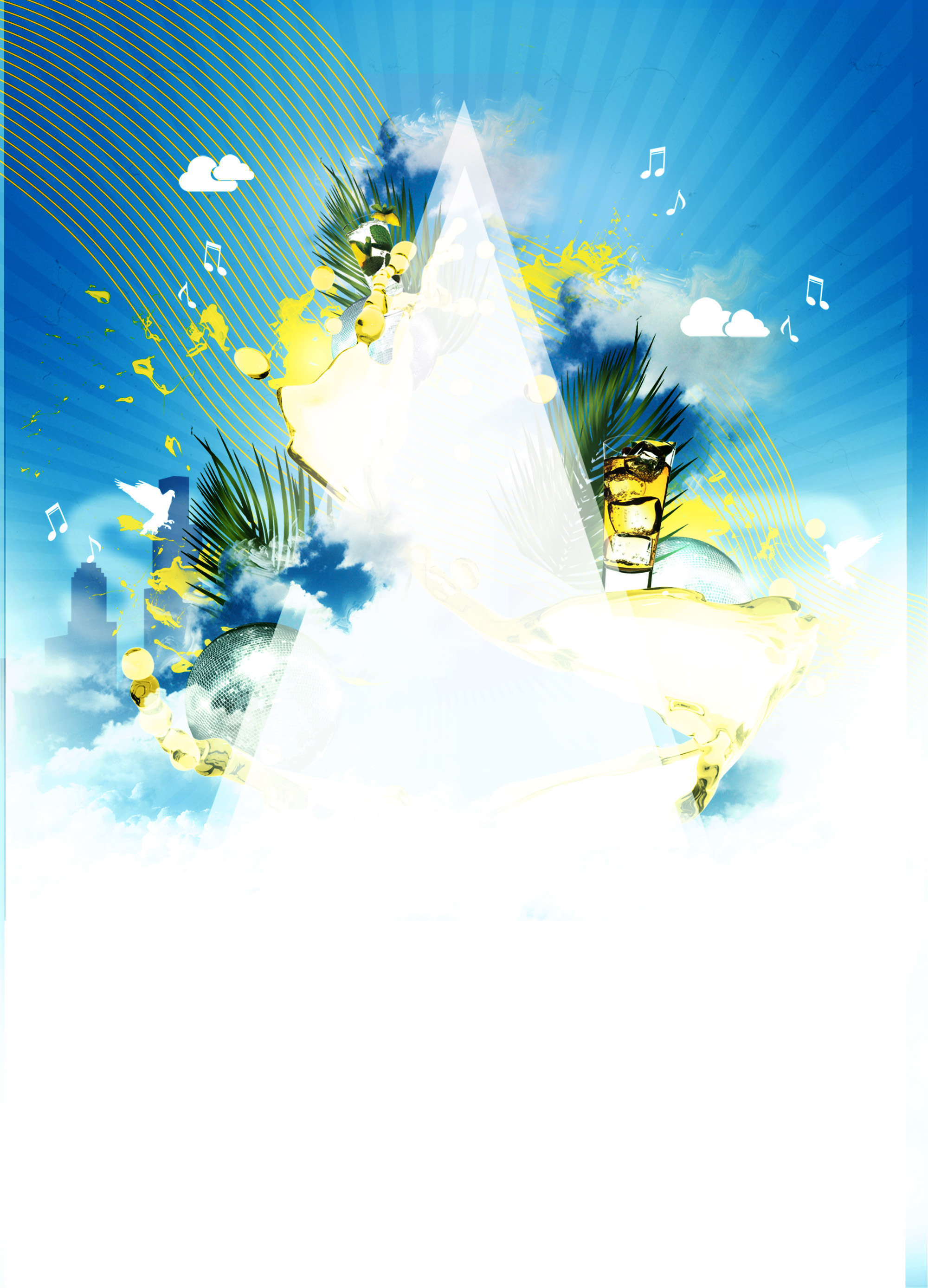 summer beach party poster background material  summer  beach  party background image for free