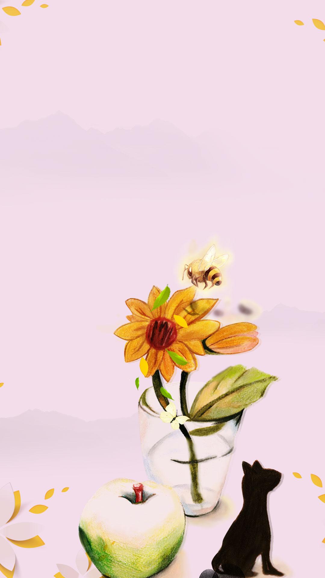 Choi chì vẽ minh họa cho bài hát nền H5 ong bướm Chì Vẽ Minh Họa Cho đấy Original Bằng Tay Hoa Hướng Dương tải về miễn phí ảnh nền