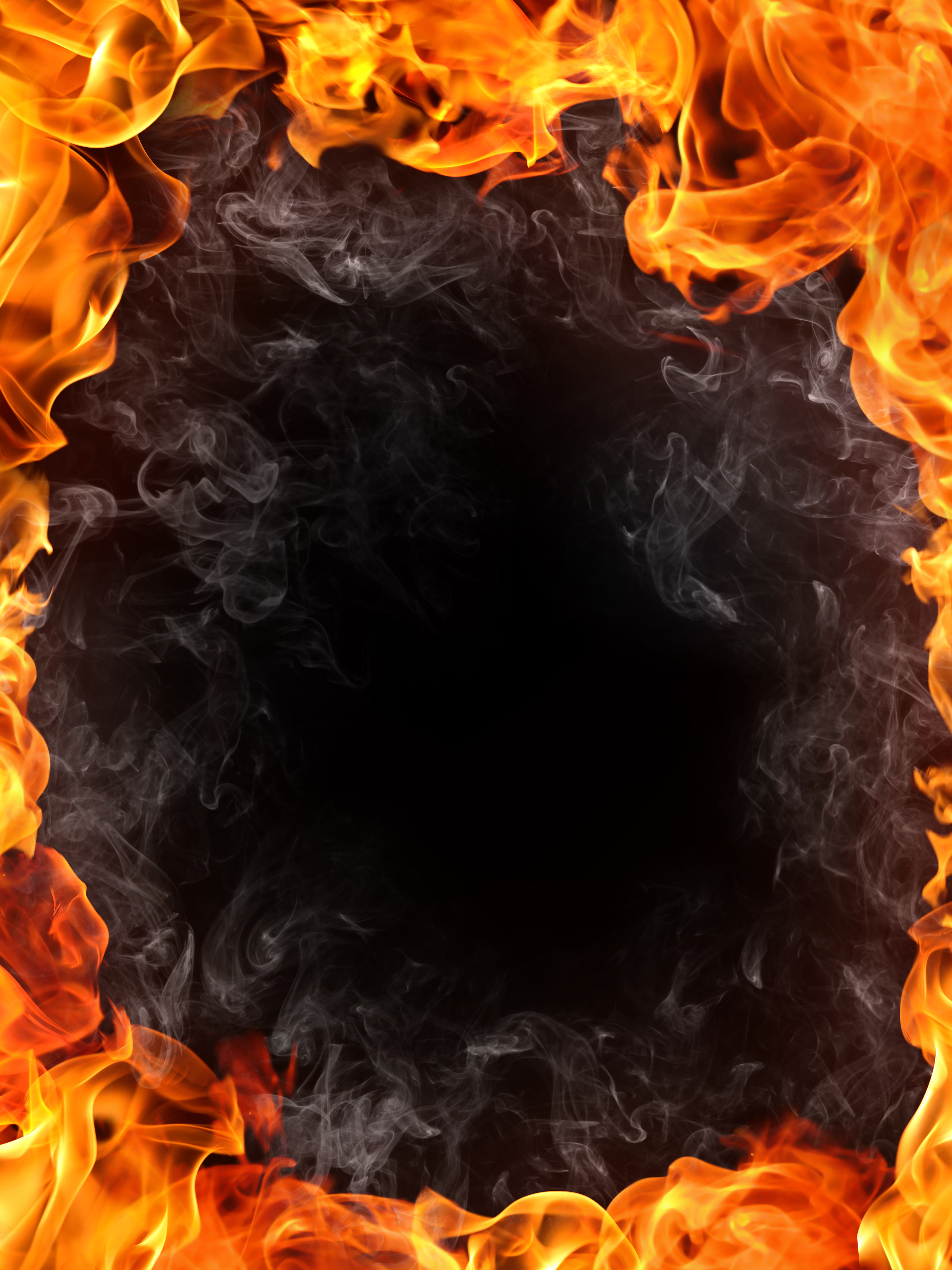 Burning Flame Border Background Material Combustion