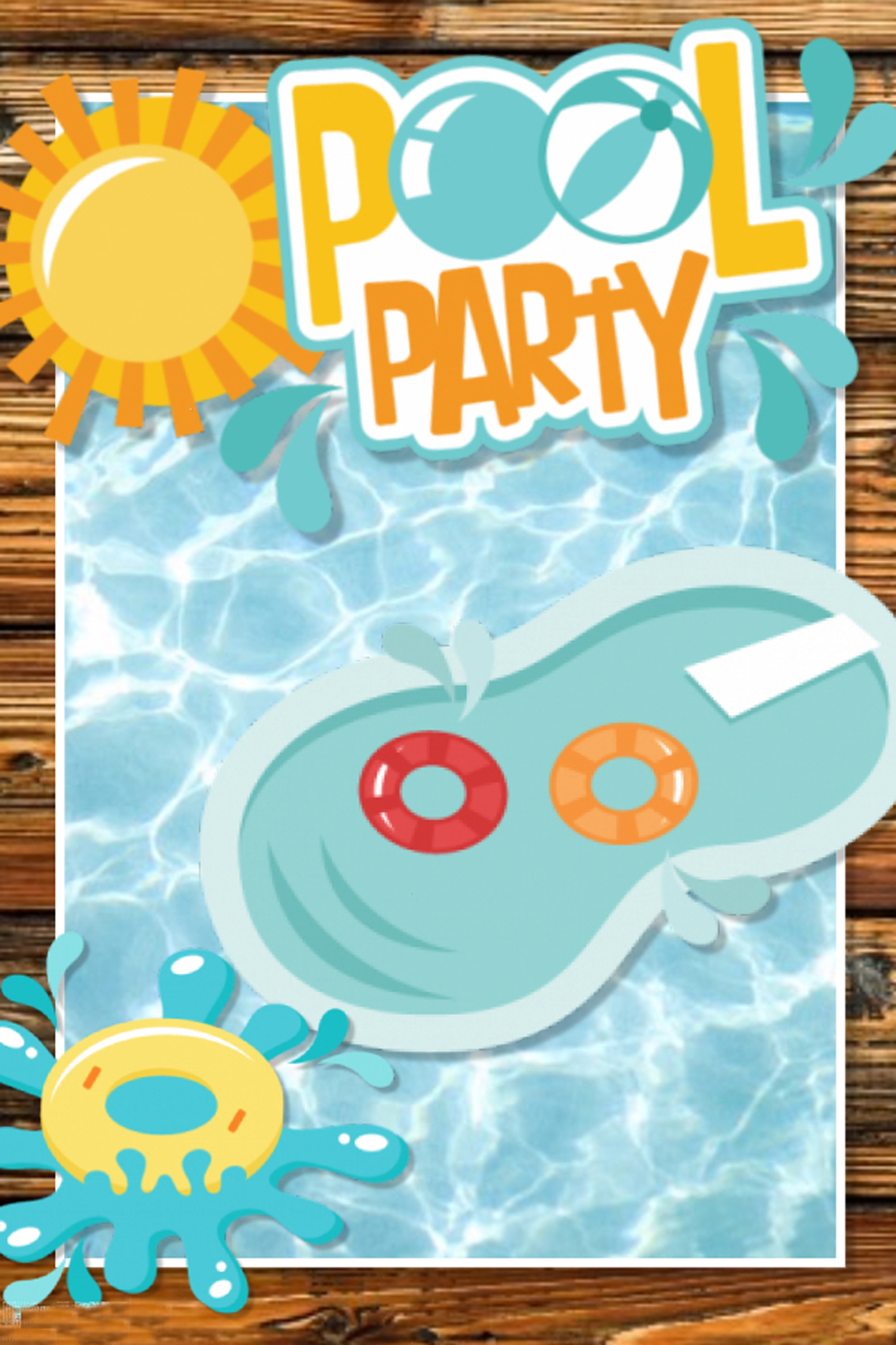 pool party poster background  swimming  pool  party