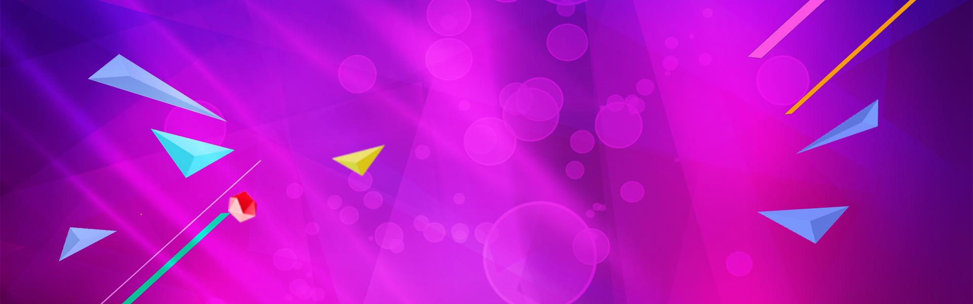 a roxa do tri u00e2ngulo splash banner simples roxo halo