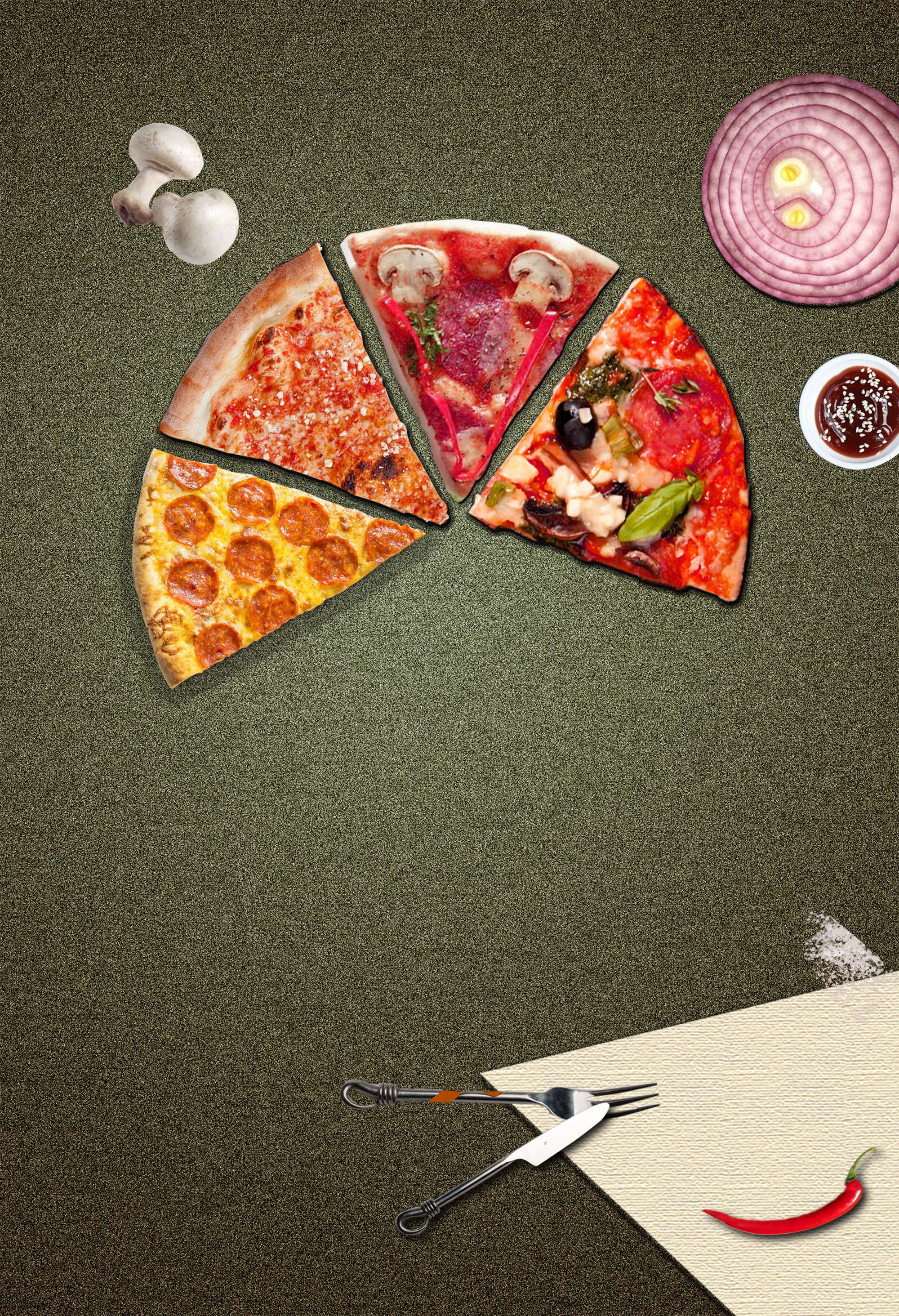 creative pizza gourmet poster design  delicious  food