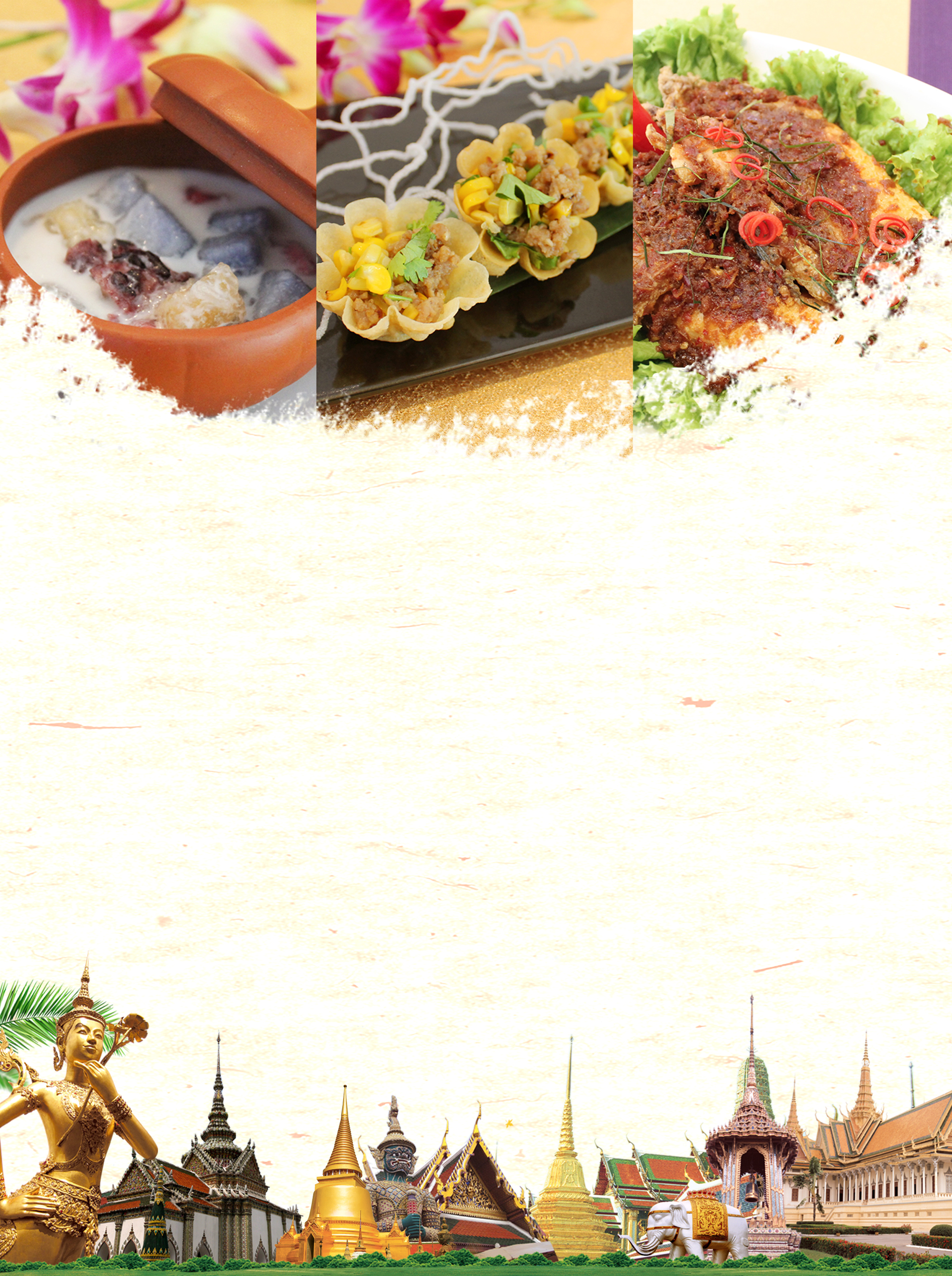 thailand gourmet tour poster background material  thailand