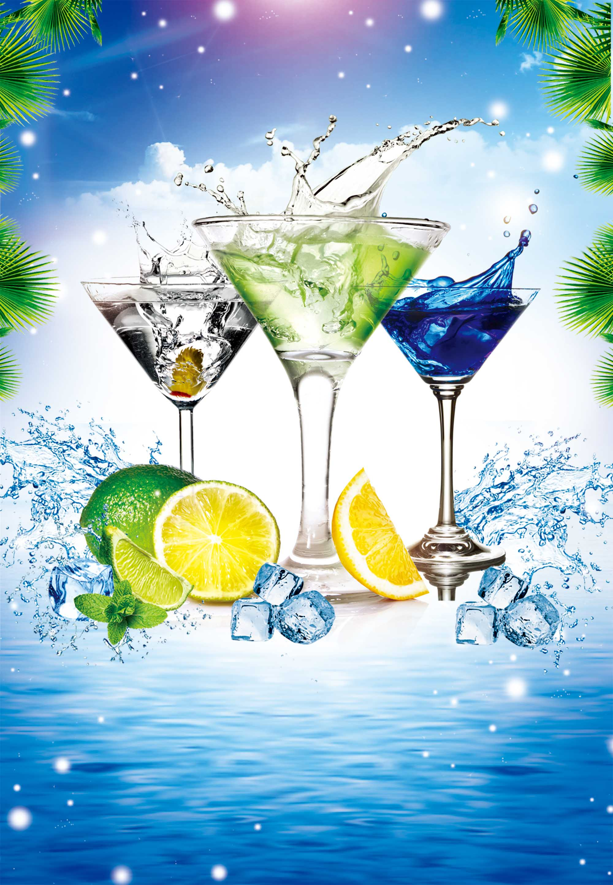 summer cool drink simple refreshing drink posters  cool