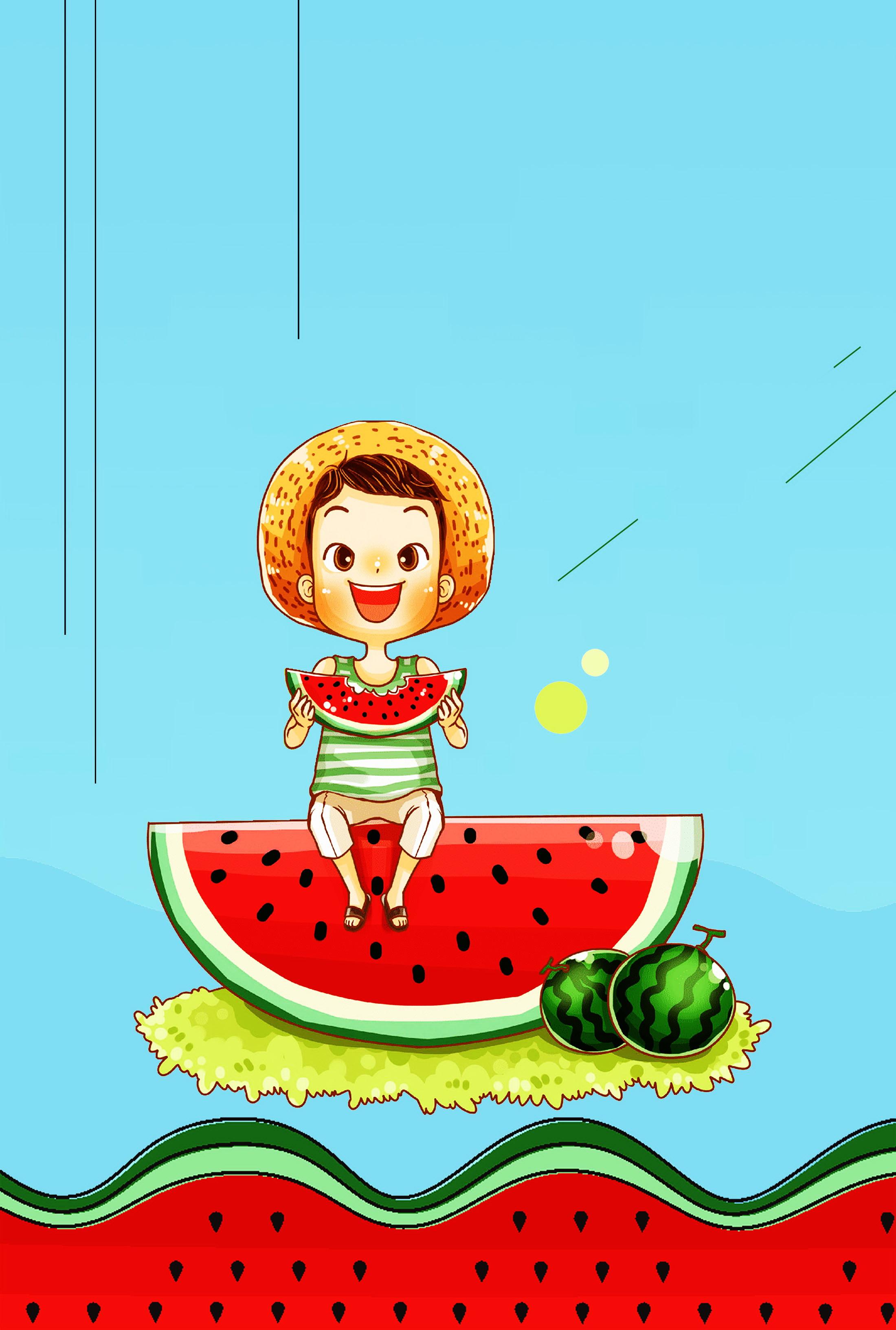 Anh bạn nhỏ ăn dưa hấu mẫu nền Hoạt Hình Anh Bạn Bé Nhỏ Ăn Dưa Hấu tải về miễn phí ảnh nền