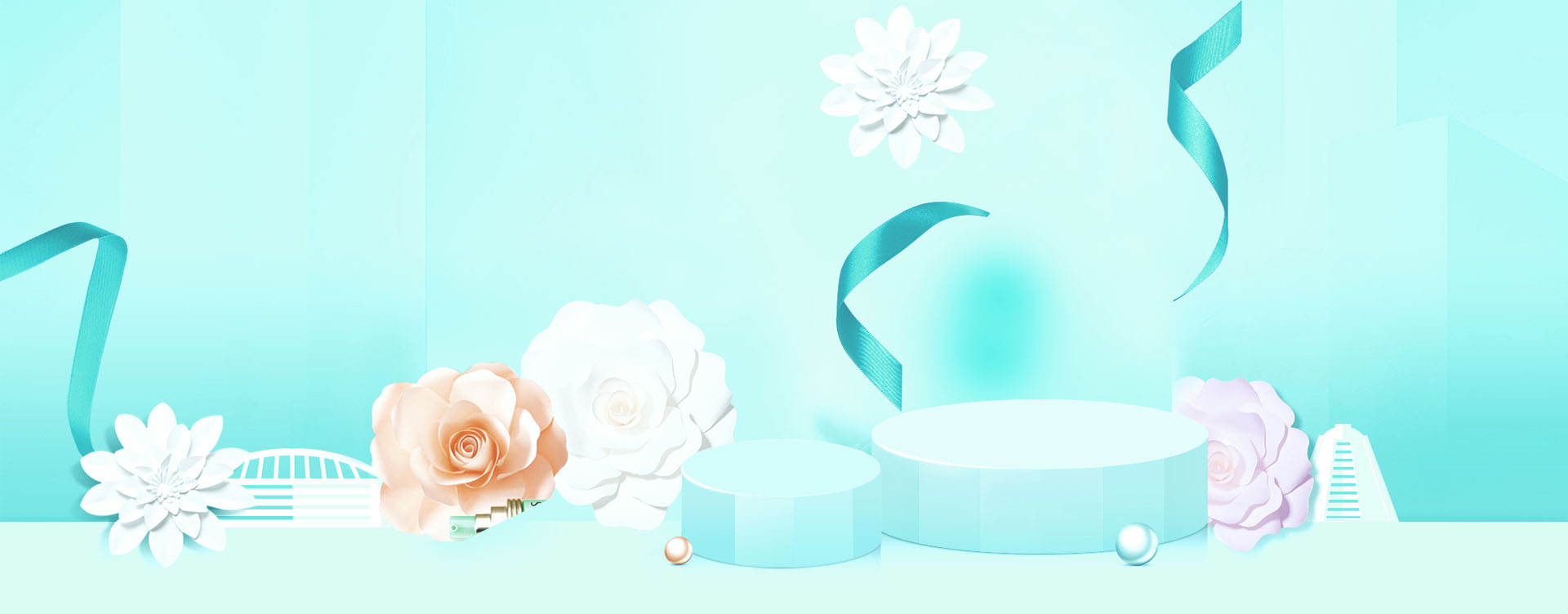 taobao beauty cosmetics poster background  skin  care