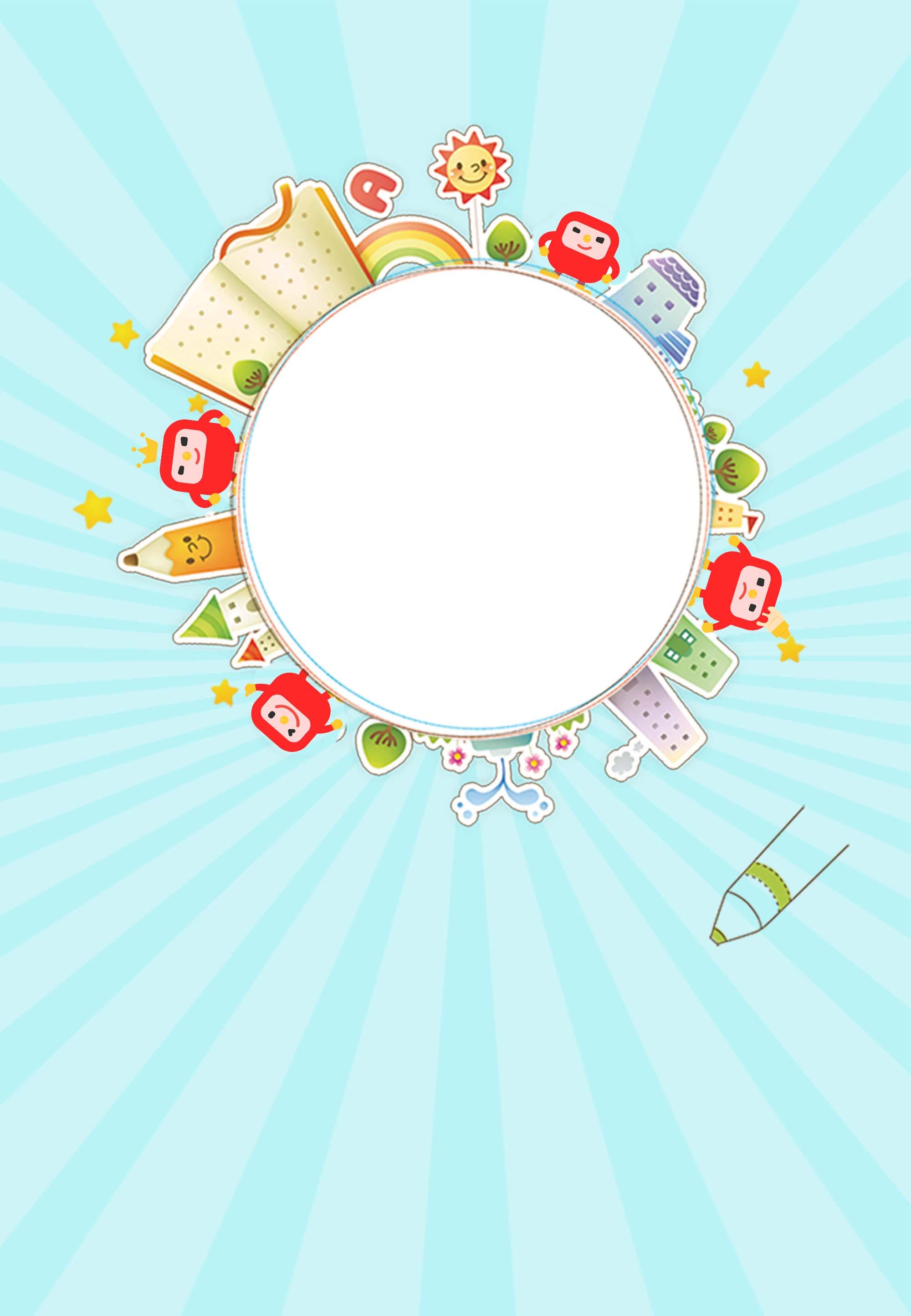 Año Nuevo cartel para jardín de infantes La Bienvenida A Nuevos ...