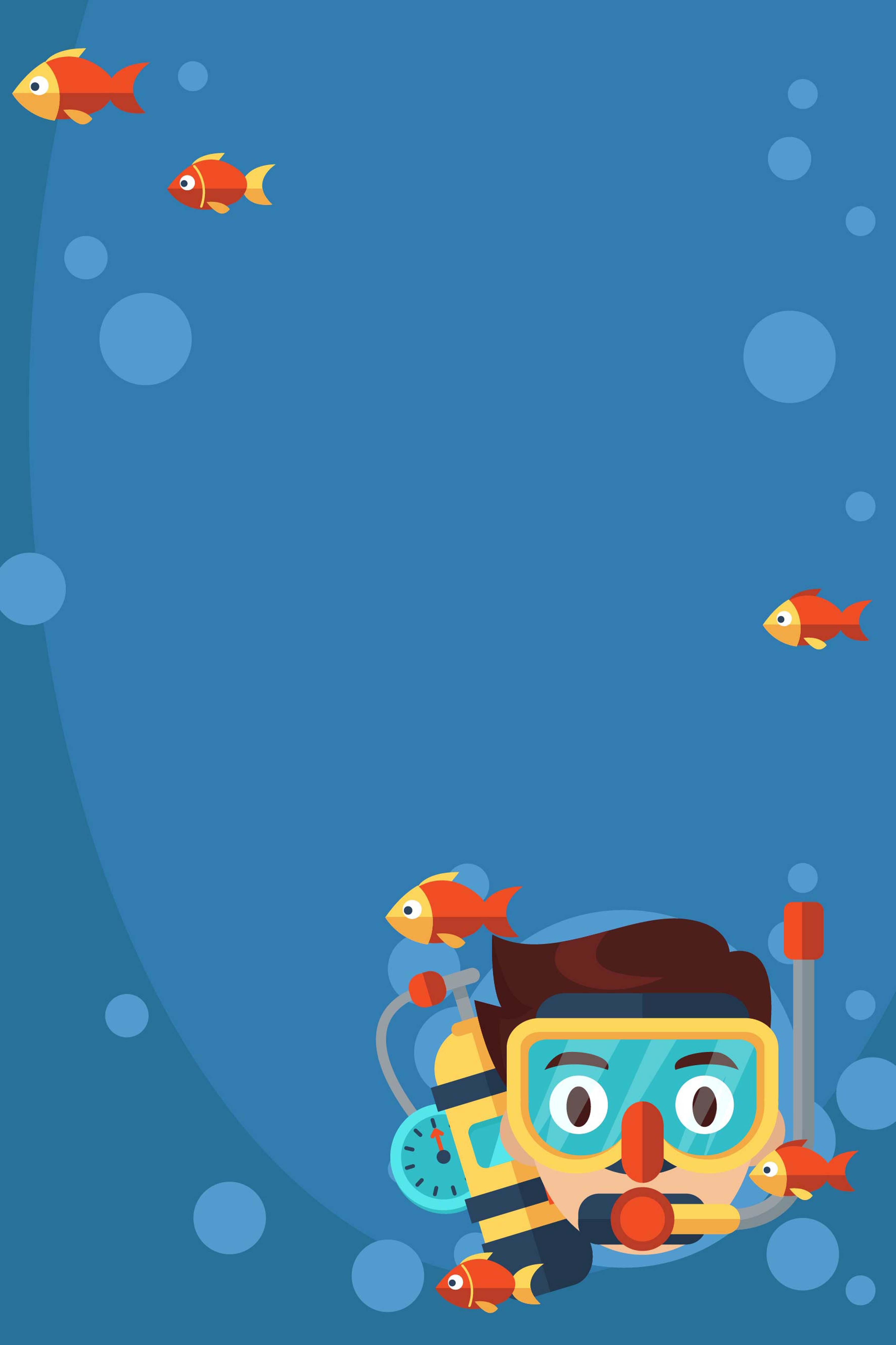 desenhos animados de mergulho de resgate pintado cartazes