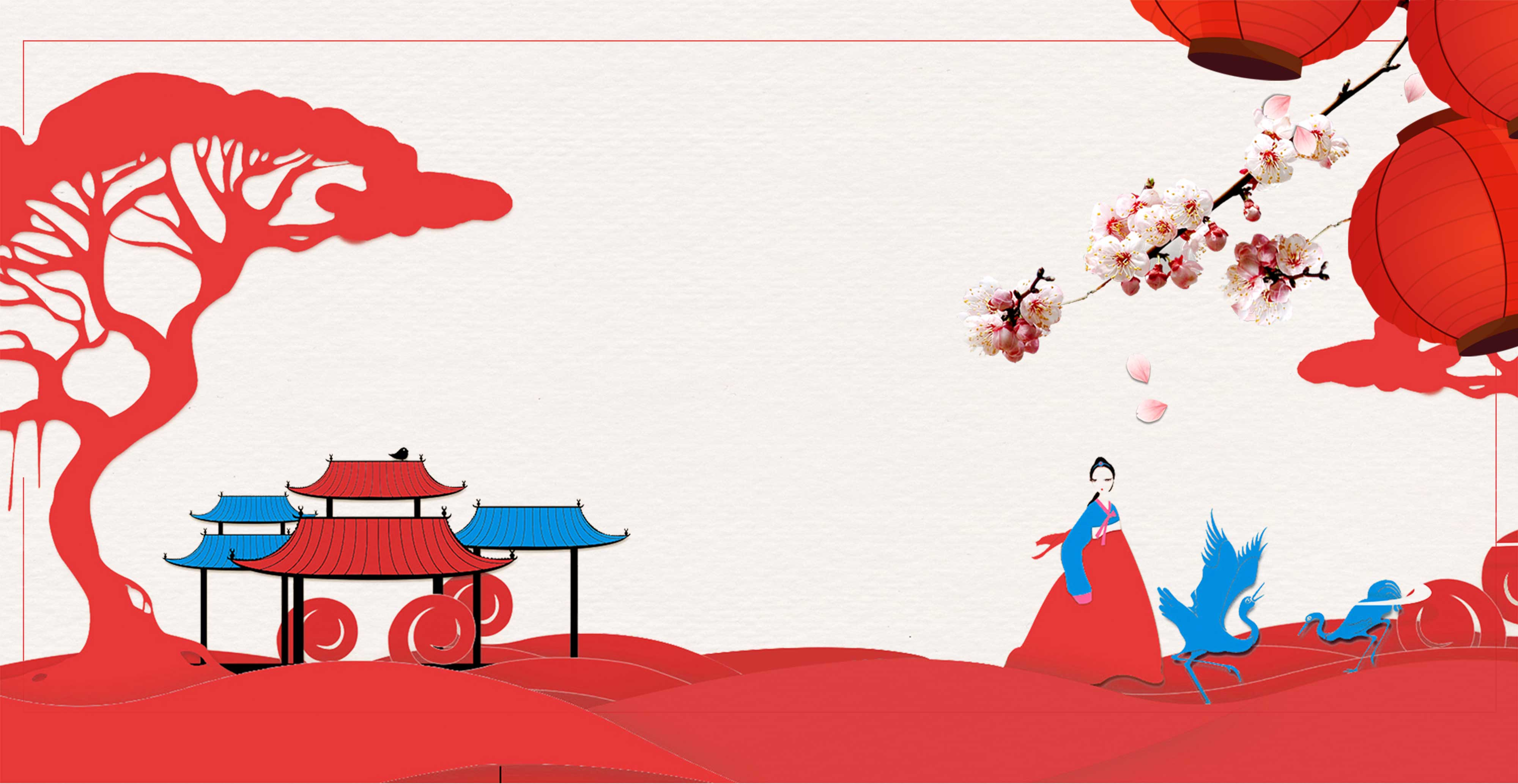 korean style poster background templates  wind  hanbok