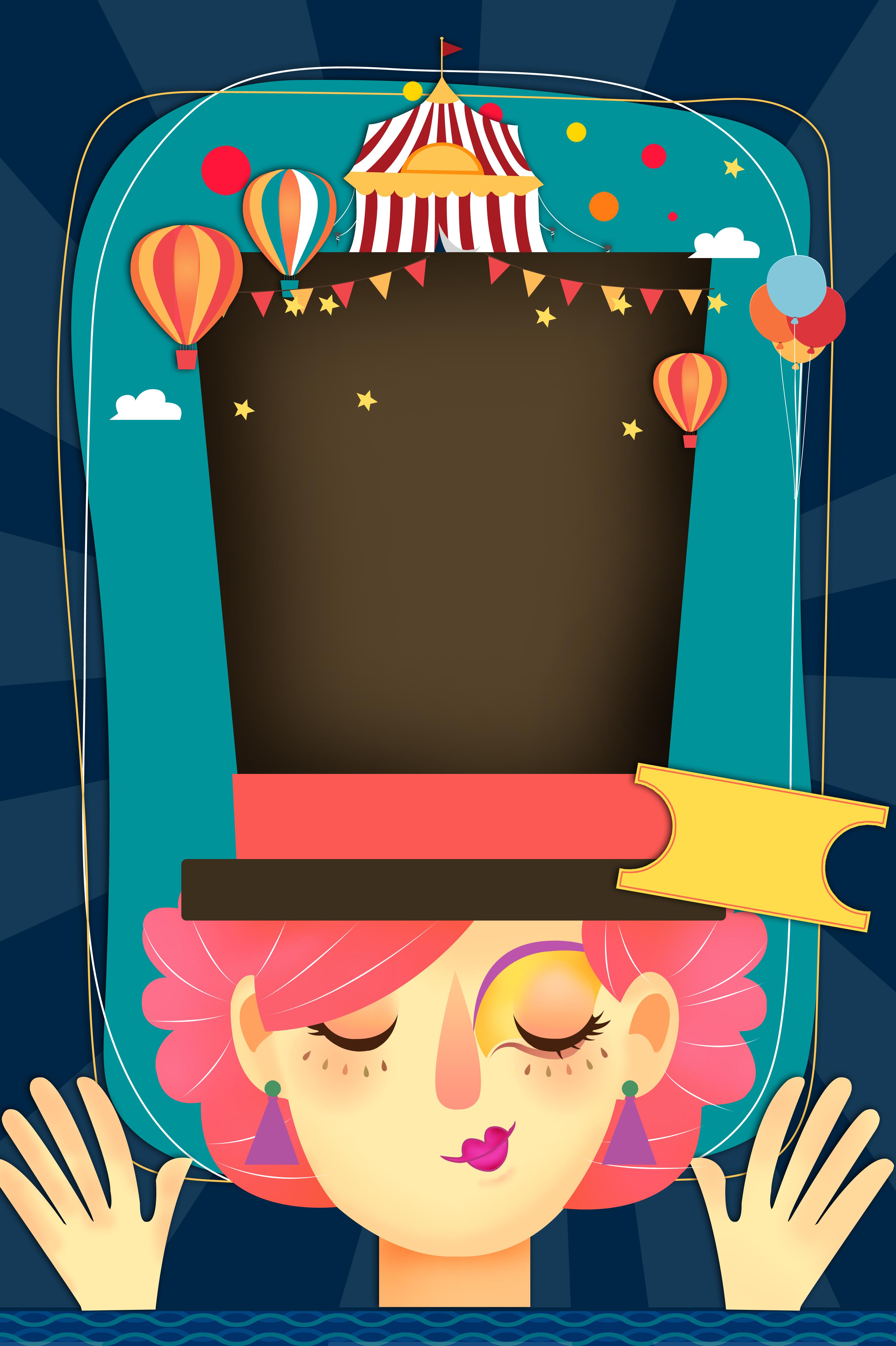 cartoon circus carnival poster  carnival  poster  glorace