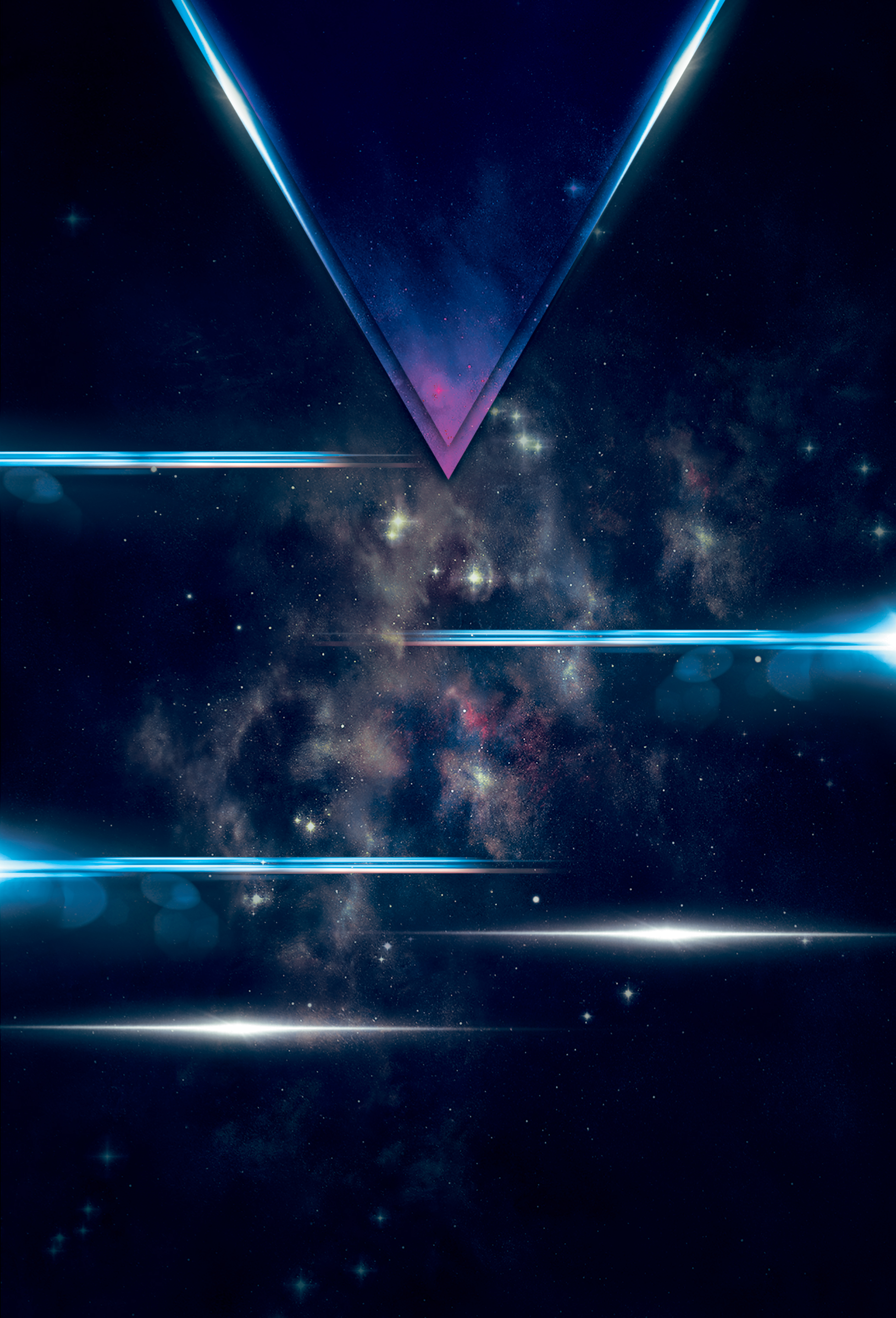 galaxy space triangle bar poster background psd  galaxy