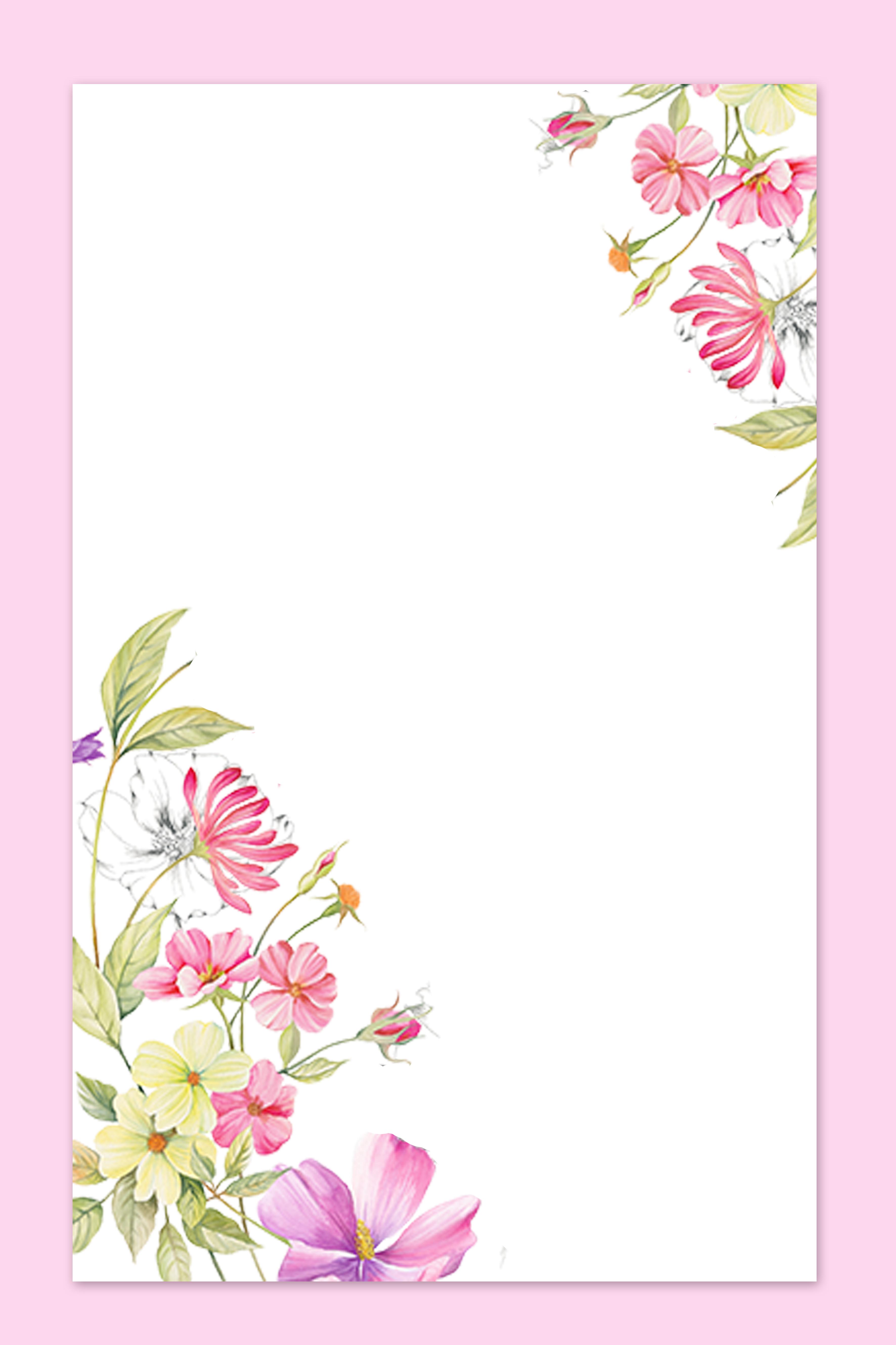simples arte de fundo flores posters poster minimalista