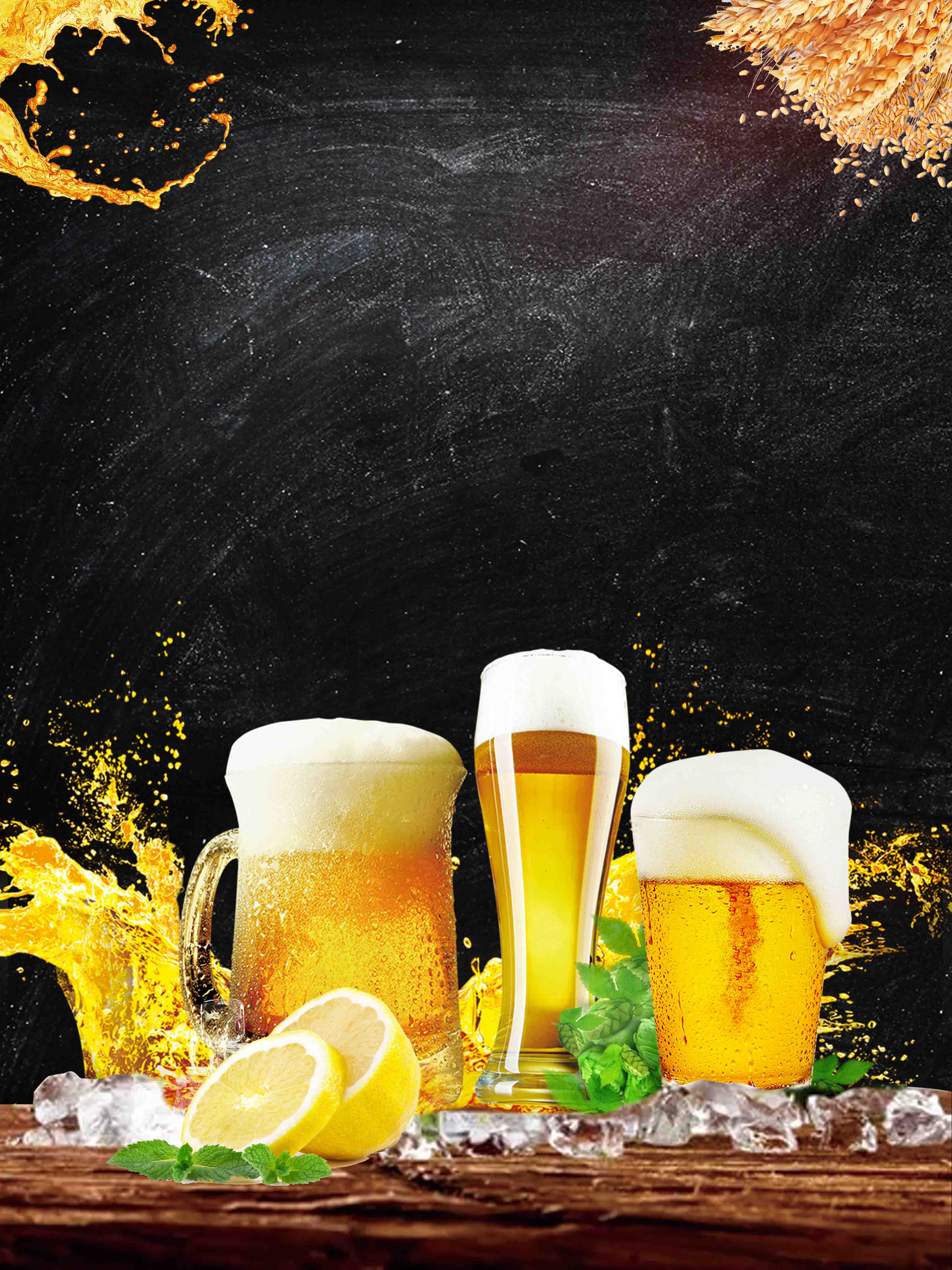 creative iced beer promotion  iced  beer  oktoberfest background image for free download