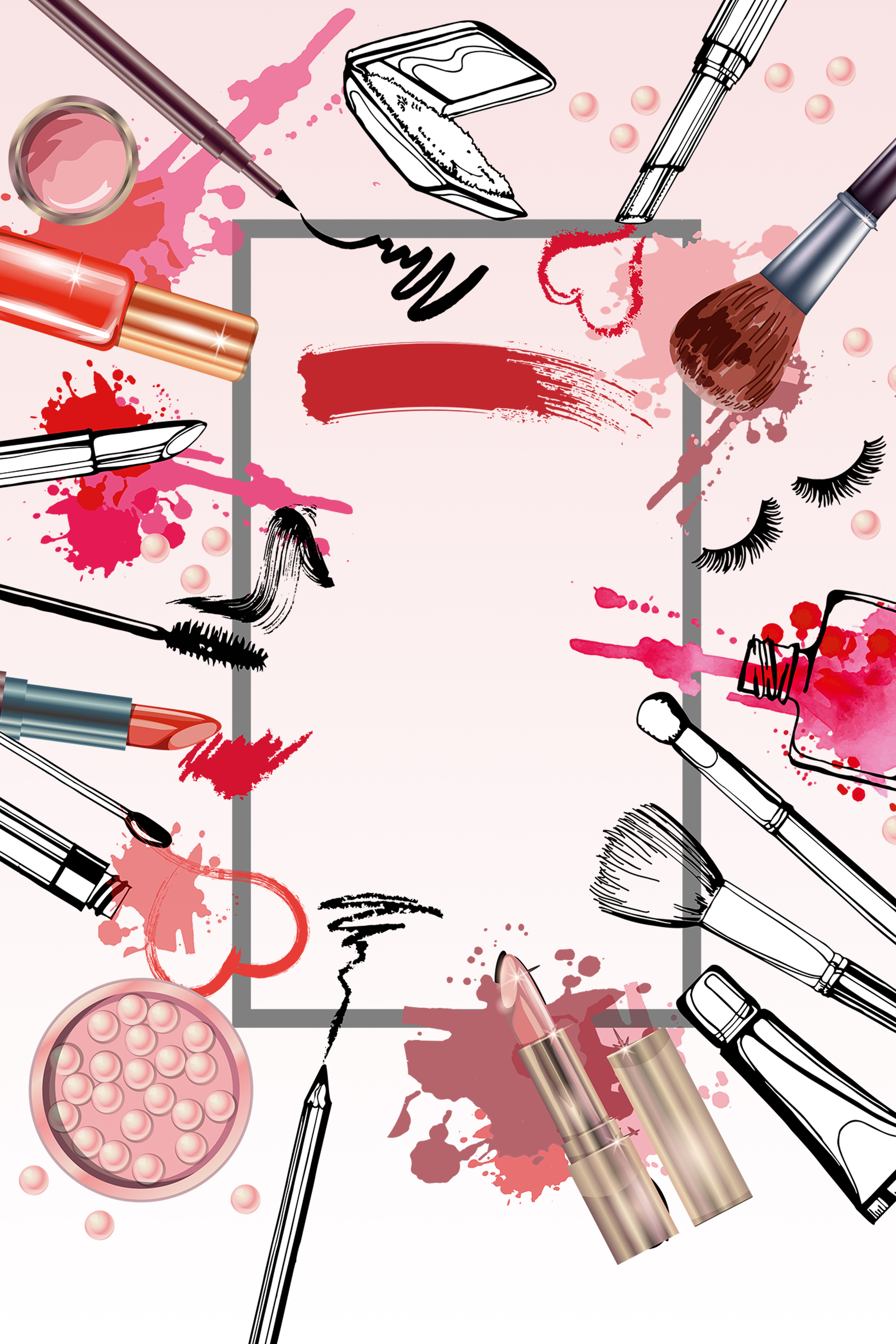 beauty cosmetics poster background  fashion  poster