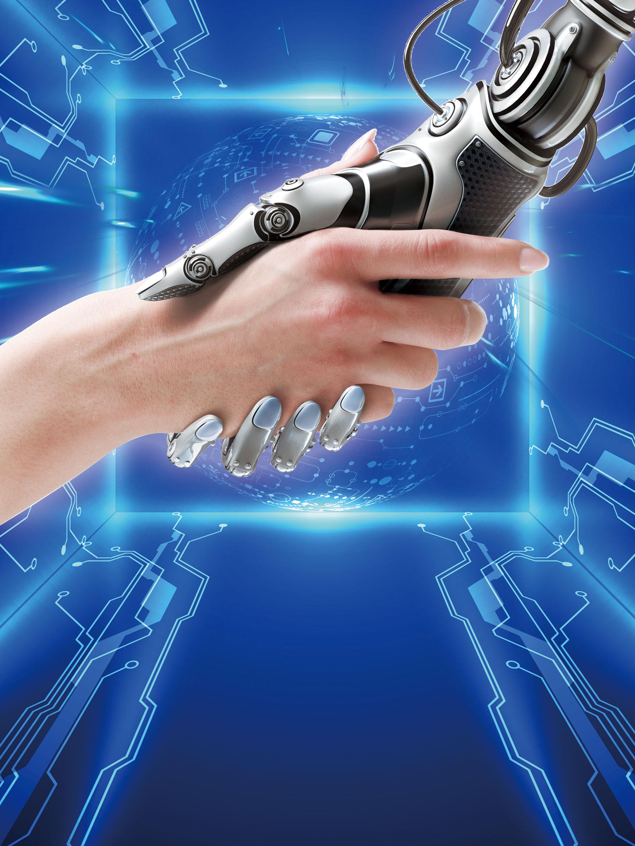 Blue Technology Created Future Technology Fashion