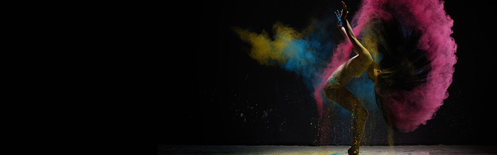 feminine dance color banner  female  dance  smoke effect