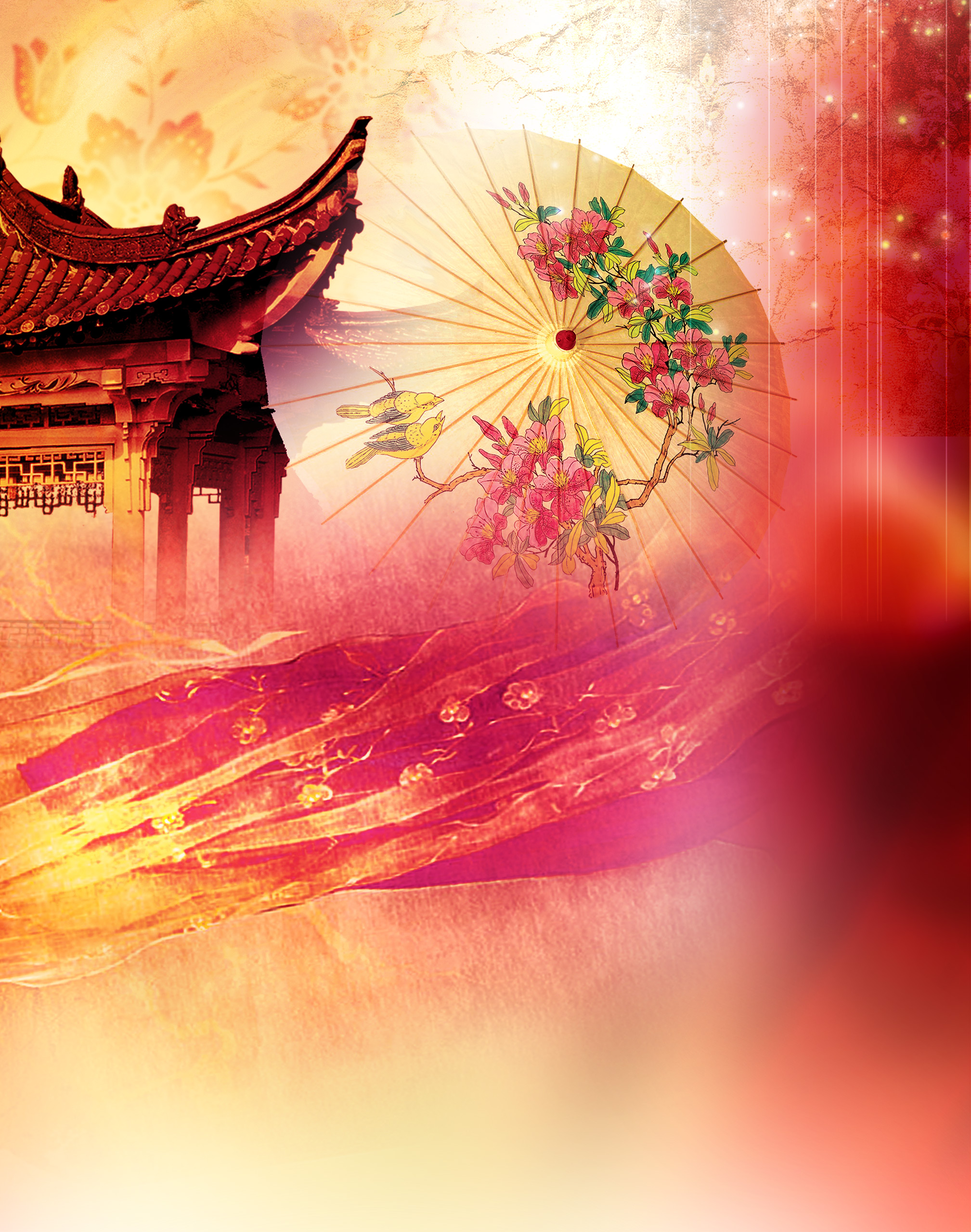 beautiful chinese mid autumn festival poster background