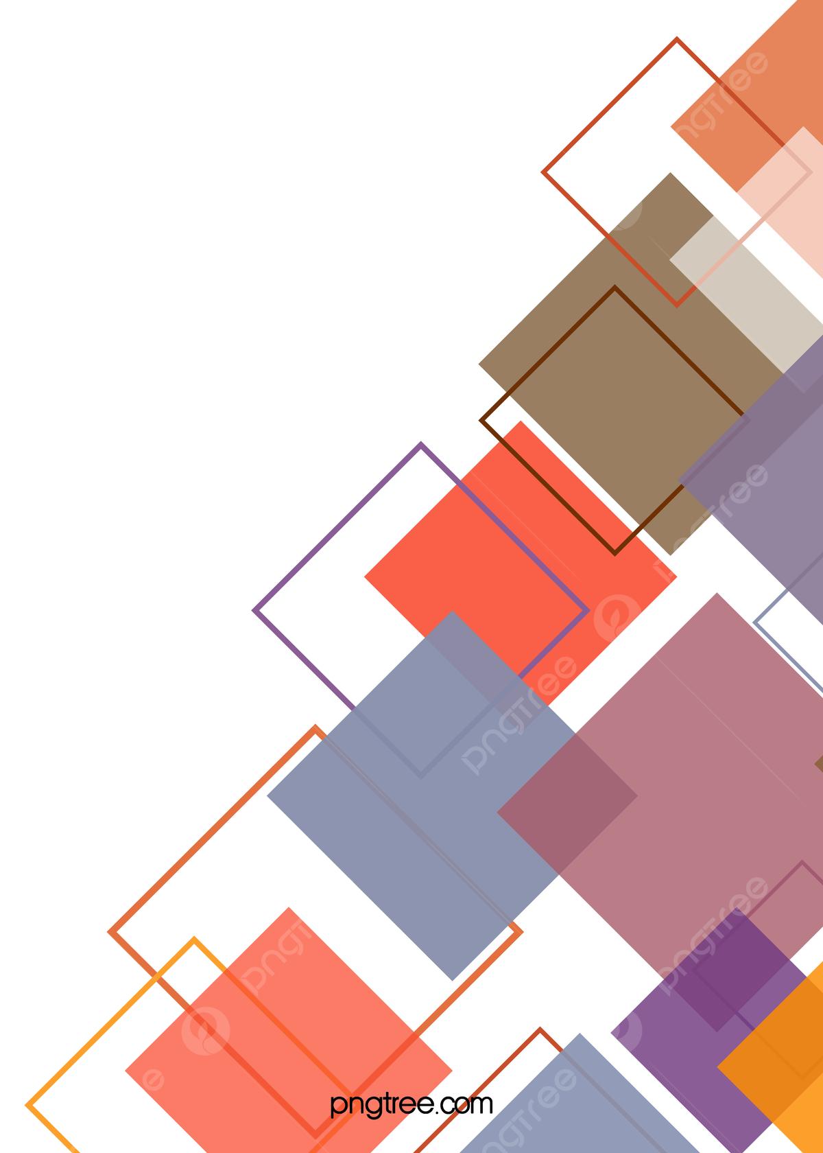 Geometric Album Cover Design Background Vector Material, Color ...