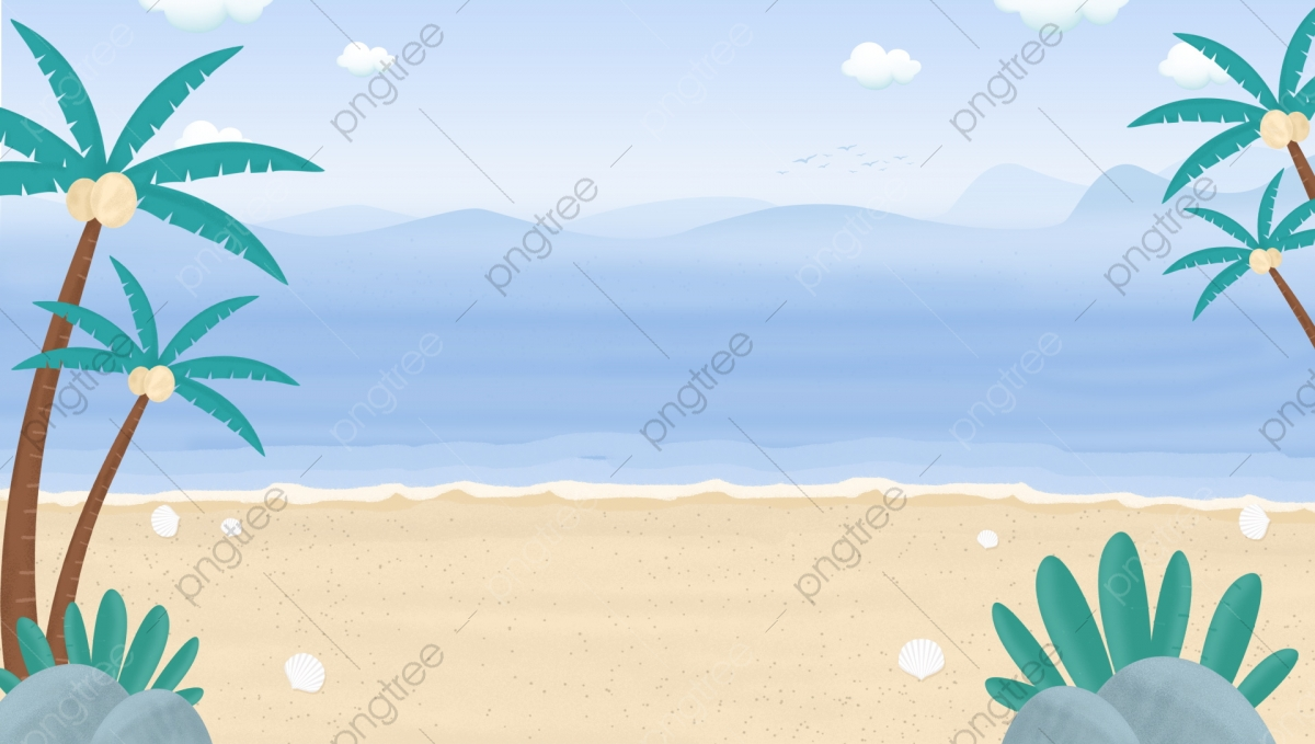 Palm Beach Background Sand Sea Island Background Image For Free Download