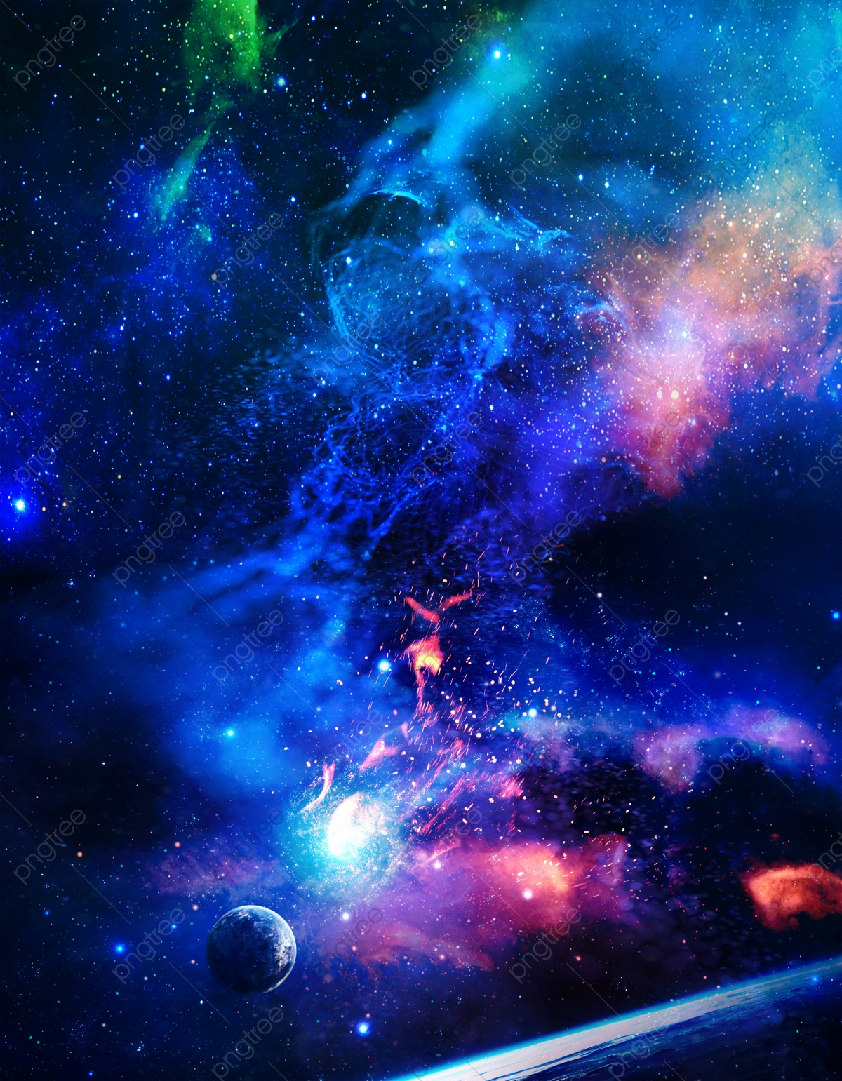 Cosmic Star Wars Background Material The Background Of Sense Of Science And Technology Background Material Science Fiction Background Image For Free Download