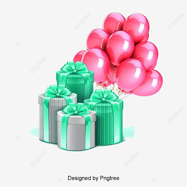 Gift Balloon New Material Png And Psd File For Free Download