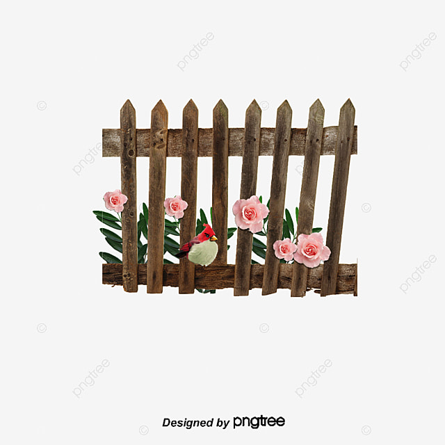 Rustic Wooden Fence Cartoon Material Pictures PNG And PSD