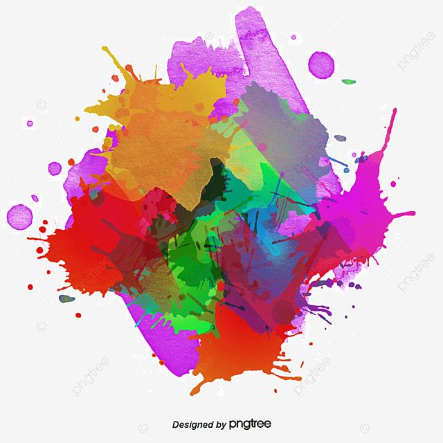 circulaire d encre de couleur de graffiti explosion