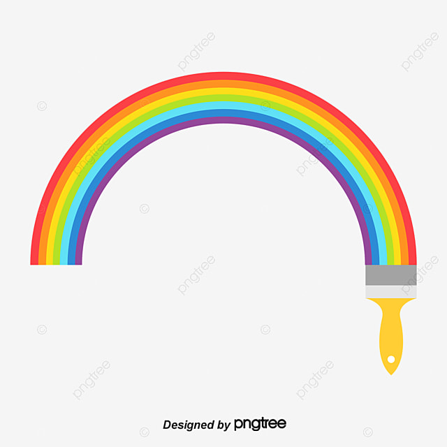 Colorful rainbow paint brush, Paint, Brush, Colorful PNG and Vector for Free Download