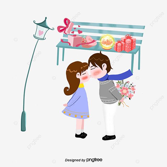 Valentine S Day Cartoon Couple Cartoon Creative Tanabata Creative