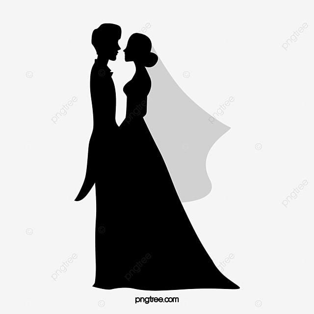 رومانسية الأزواج الناس أبيض وأسود أسود عرس ثوب Png والمتجهات