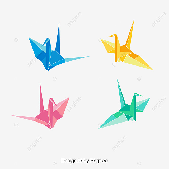 origami paper cranes png and vector for free download