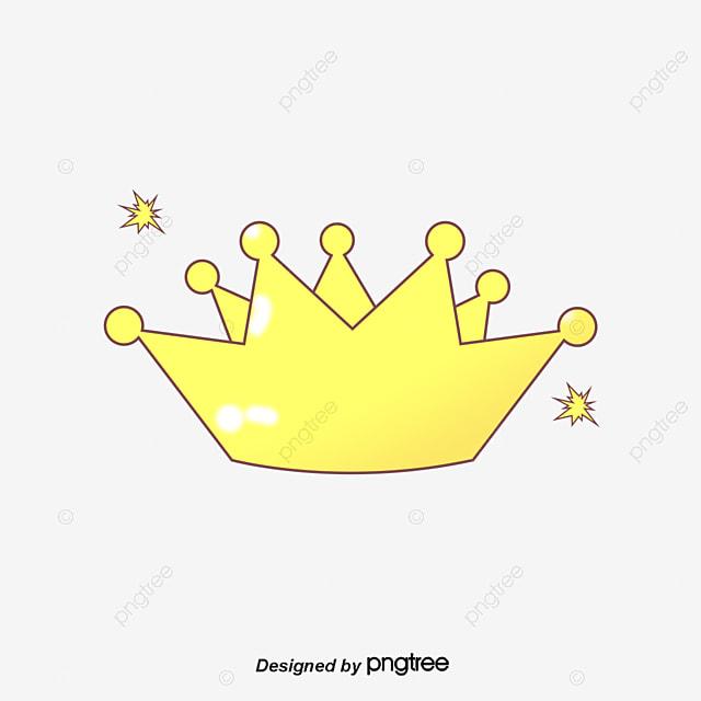 Imperial Crown Yellow Cartoon Crown Imperial Crown